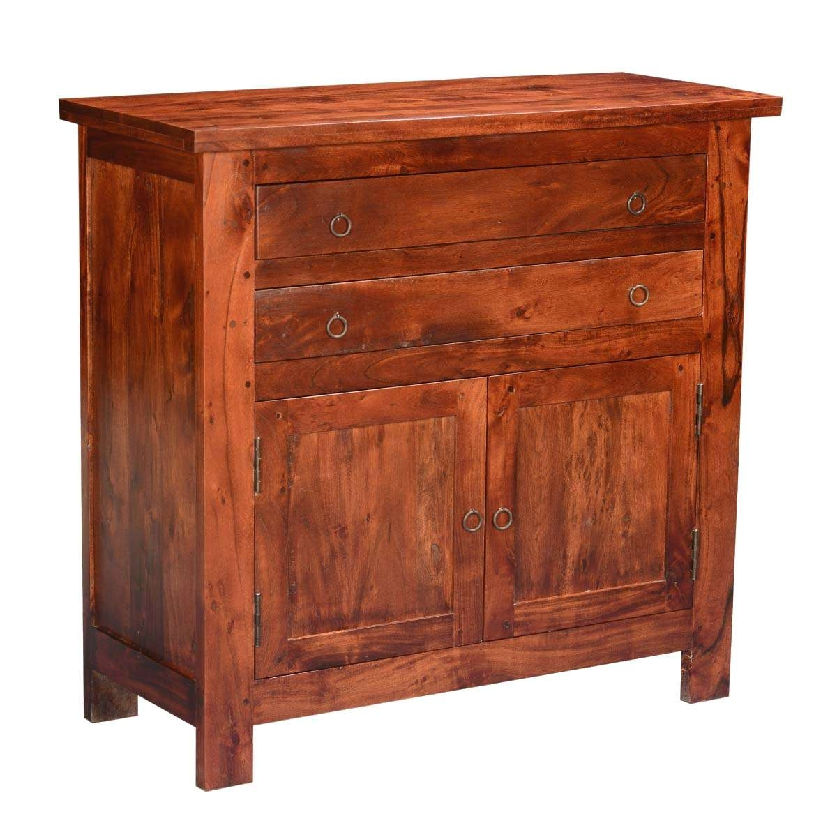 Classic Acacia Wood Buffet Sideboard Cabinet Within Mission Style Sideboards (View 7 of 20)