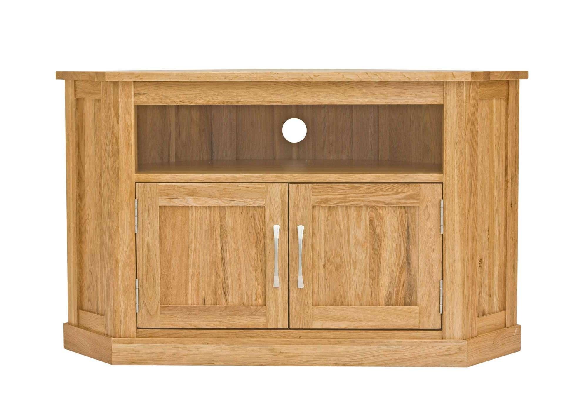 Classic Oak Corner Television Cabinet | Hampshire Furniture In Dark Wood Corner Tv Cabinets (View 2 of 20)