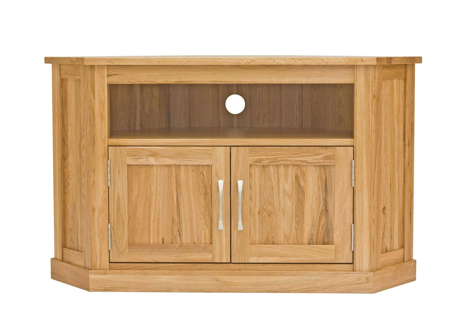 Classic Oak Corner Television Cabinet | Hampshire Furniture Within Solid Wood Corner Tv Cabinets (View 4 of 20)