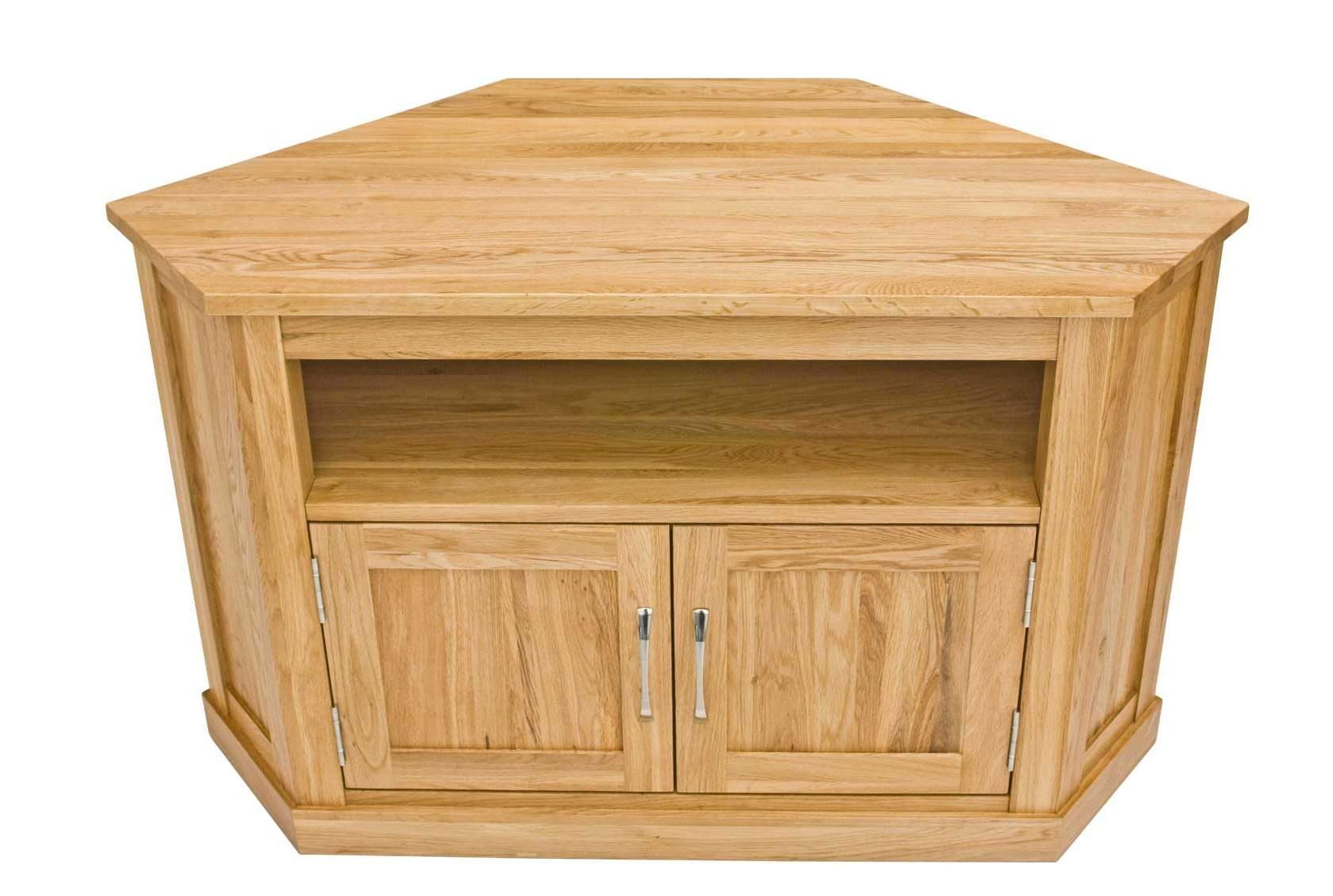 Classic Oak Corner Television Cabinet | Hampshire Furniture Within Solid Wood Corner Tv Cabinets (View 13 of 20)