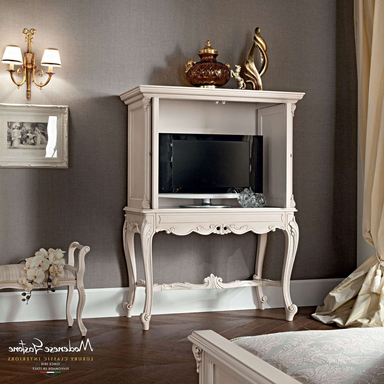 Classic Tv Cabinet / Wooden – Casanova – Modenese Gastone Luxury Intended For Classic Tv Cabinets (View 9 of 20)