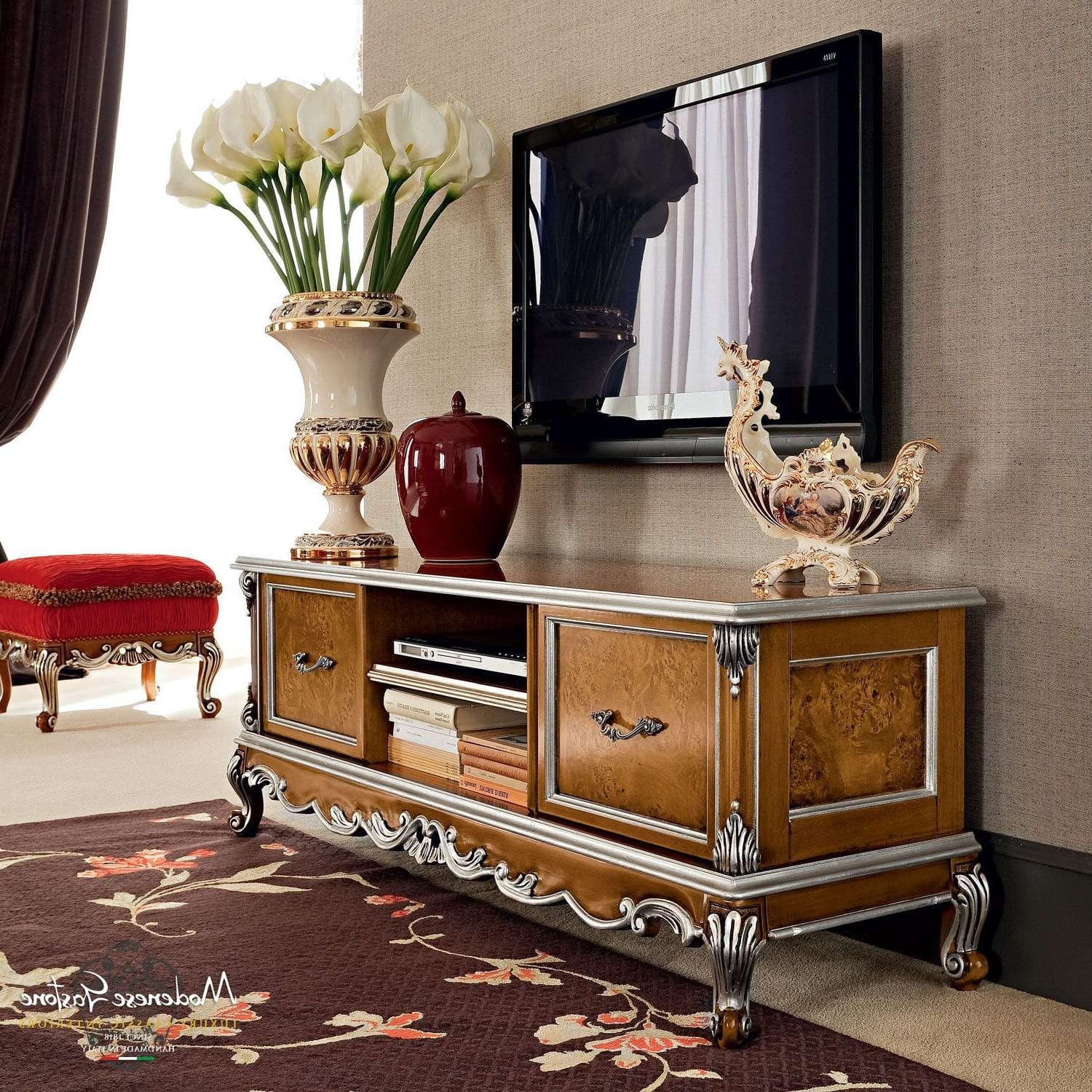 Classic Tv Cabinet / Wooden – Casanova – Modenese Gastone Luxury Intended For Classic Tv Cabinets (View 2 of 20)