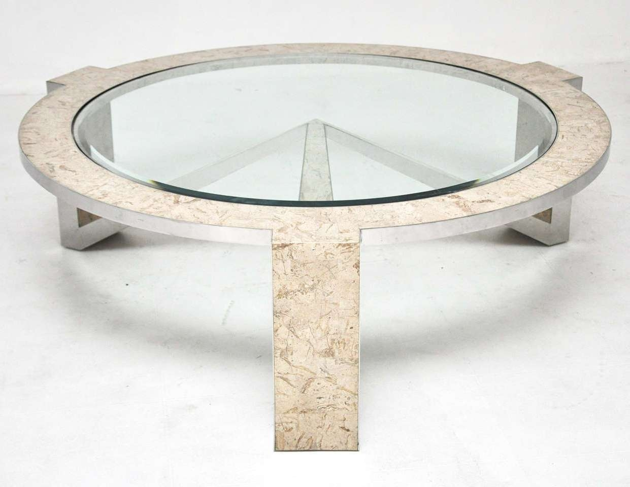 Classy Stone And Glass Coffee Tables For Home Interior Design Throughout Trendy Glass And Stone Coffee Table (View 8 of 20)