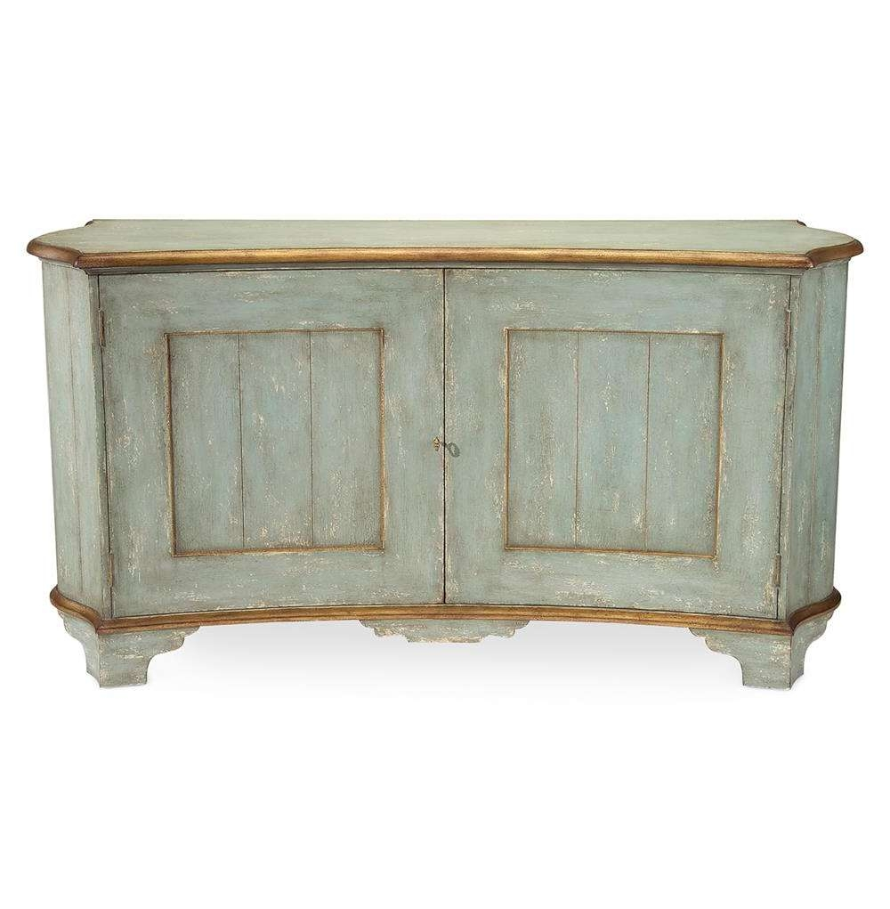 Claude French Country Light Blue Gold Gilded Buffet Sideboard With French Country Sideboards (View 3 of 20)