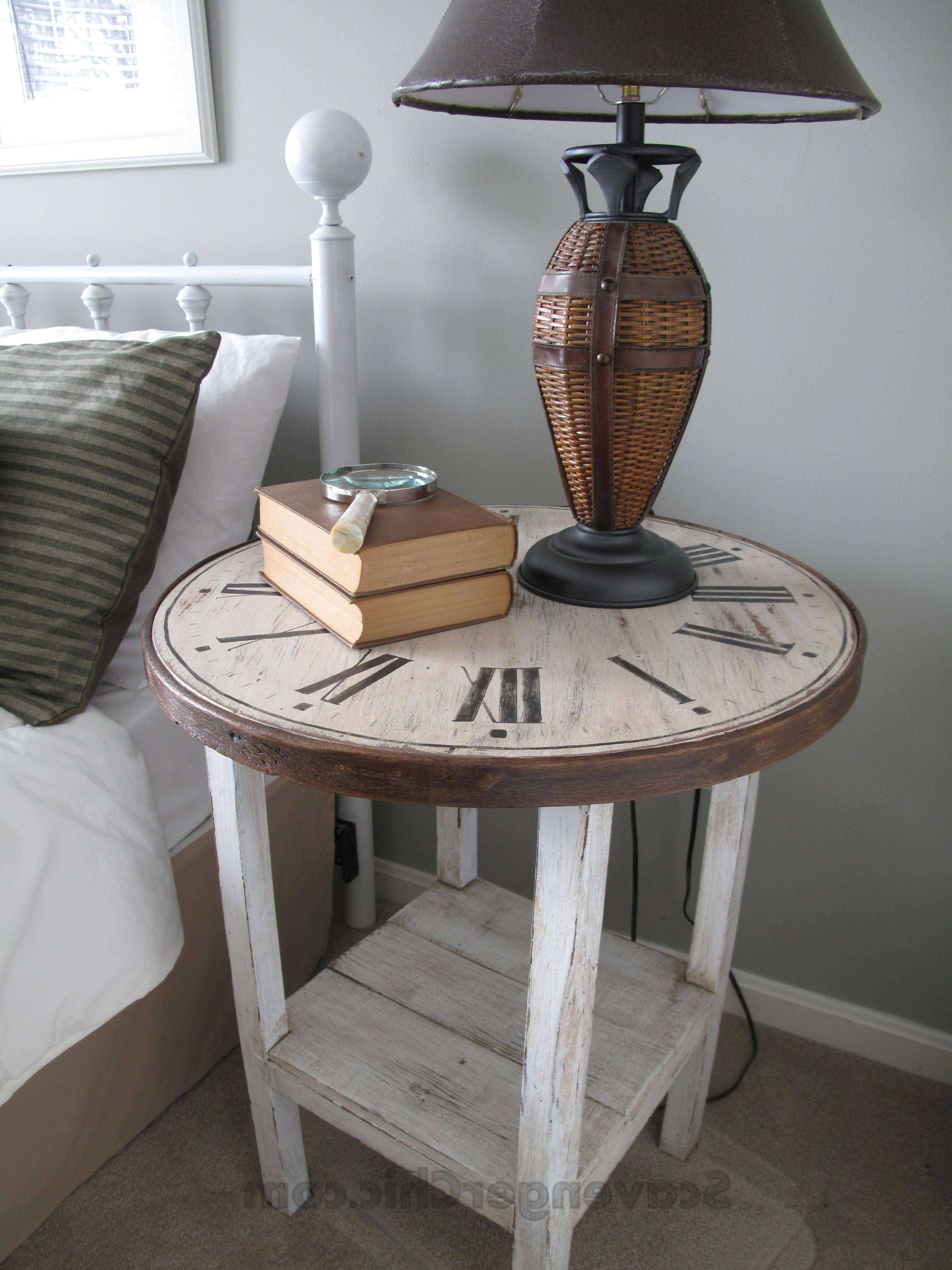 Clock Table From A Flea Market Find – Scavenger Chic Inside Fashionable Coffee Tables With Clock Top (View 9 of 20)