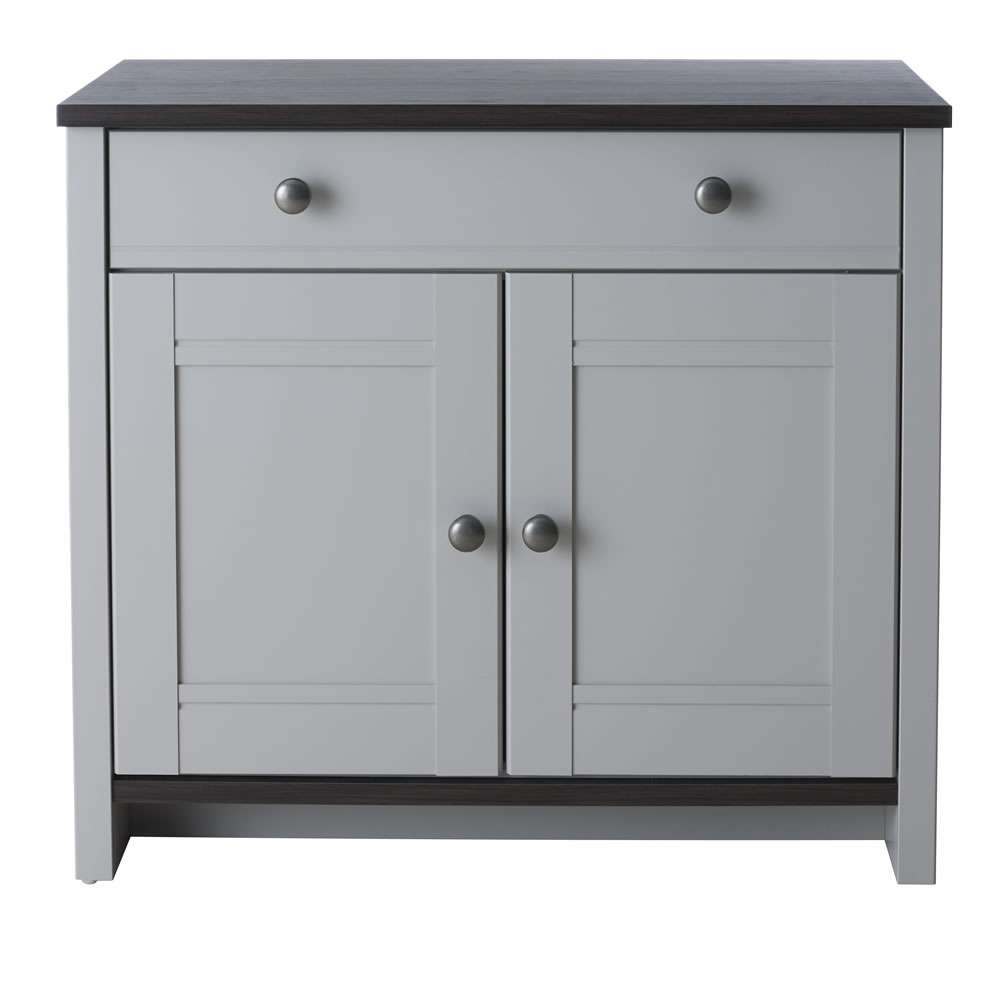 Clovelly Compact Sideboard Grey At Wilko Regarding Grey Sideboards (View 2 of 20)