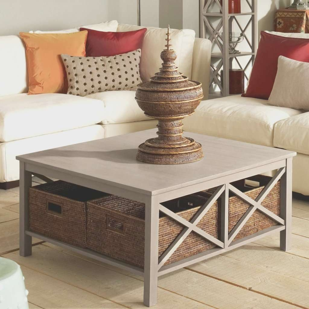 Coffe Table Amazing Under Coffee Table Storage Baskets Home Under Intended For Well Known Coffee Tables With Basket Storage Underneath (View 4 of 20)