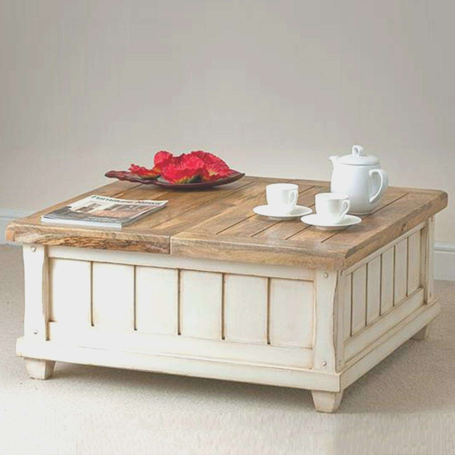Coffe Table : White Coffee Table With Storage Baskets Popular Home Inside 2018 White Coffee Tables With Baskets (View 4 of 20)