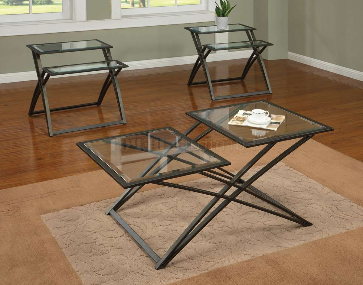 Coffee & Side Tables With Regard To Popular Metal And Glass Coffee Tables (View 2 of 20)