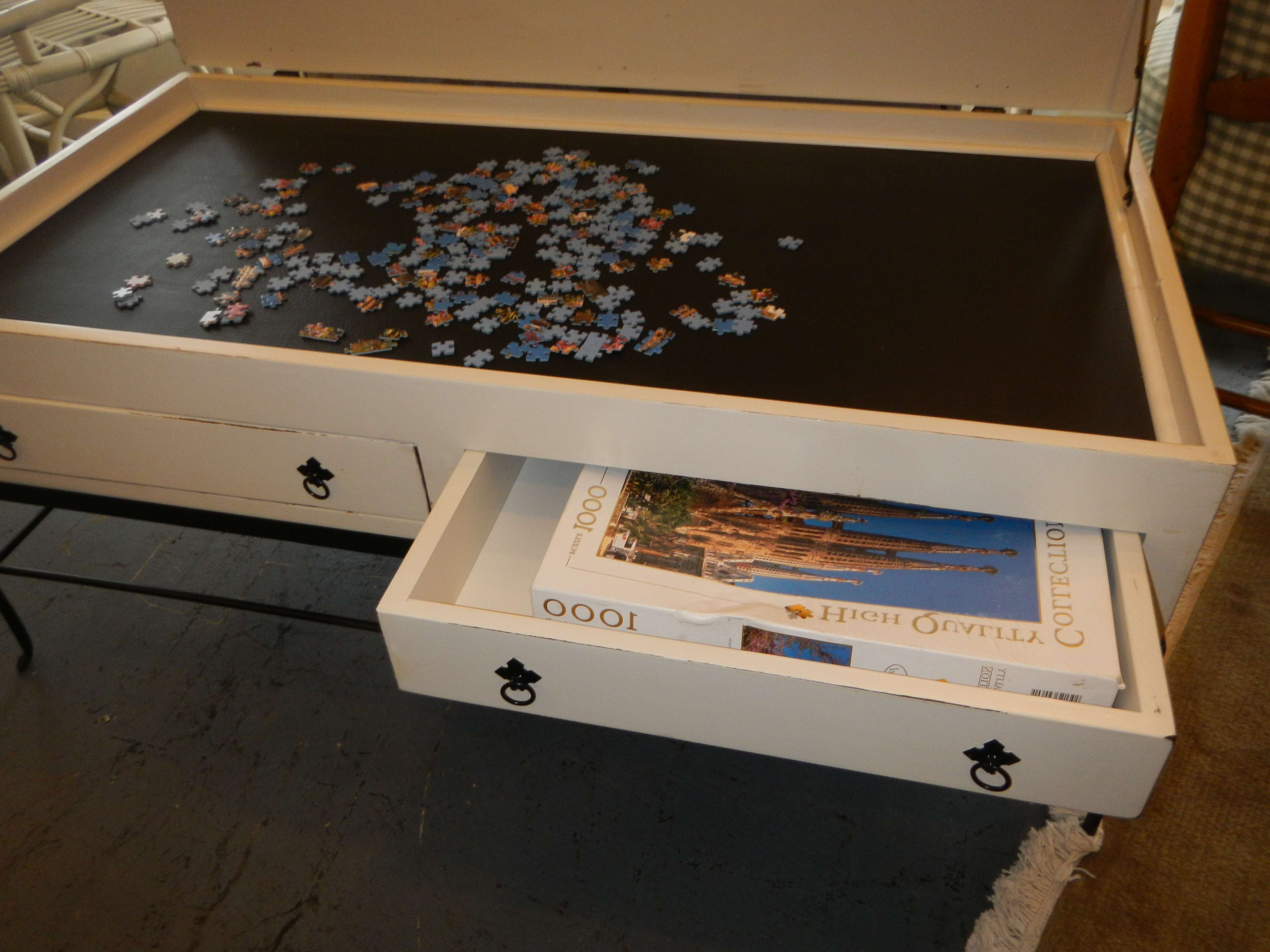 Coffee Table : 95 Unbelievable Jigsaw Puzzle Coffee Table Image With Regard To Current Puzzle Coffee Tables (View 14 of 20)
