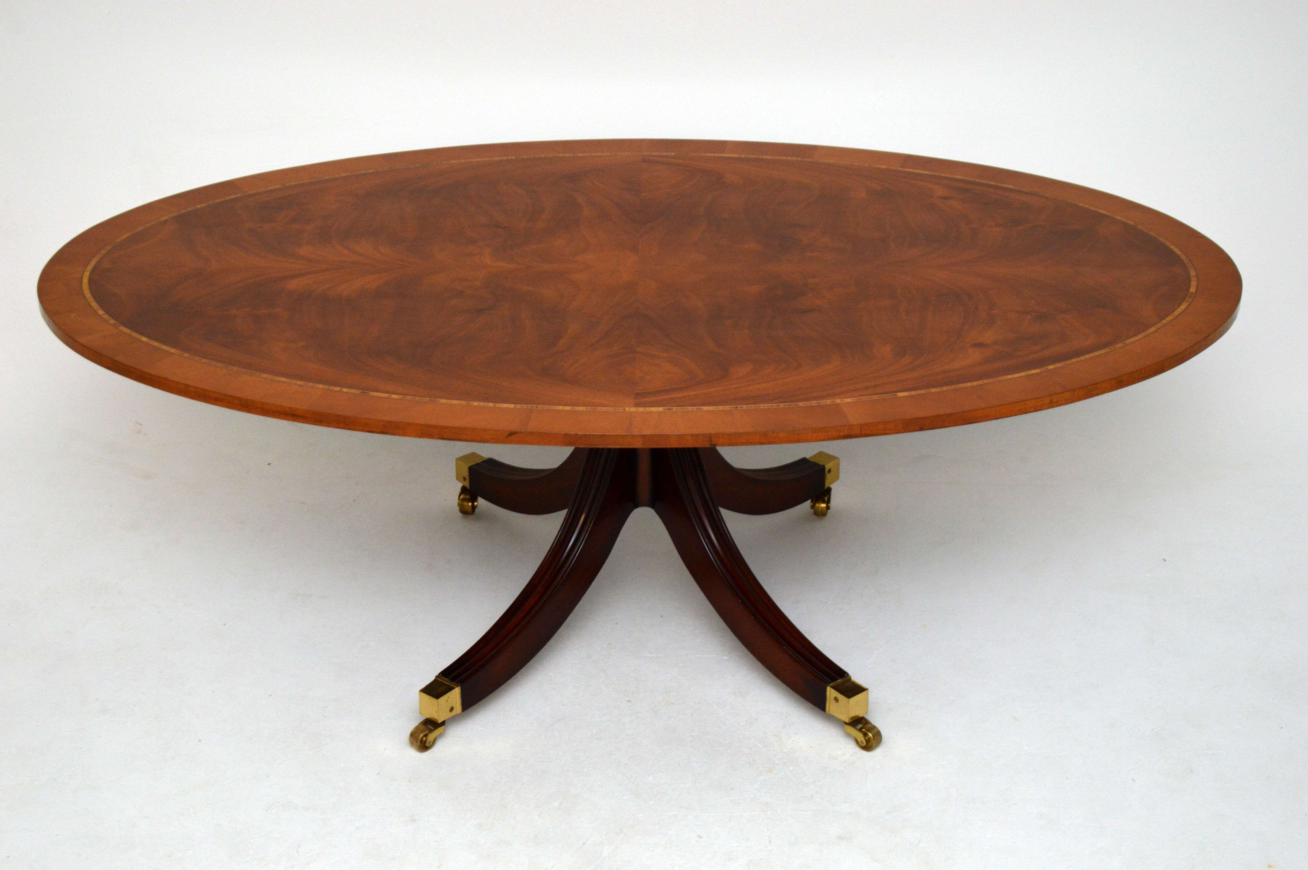 Coffee Table: Amazing Antique Round Mahogany Coffee Table Design Within 2017 Mahogany Coffee Tables (View 9 of 20)