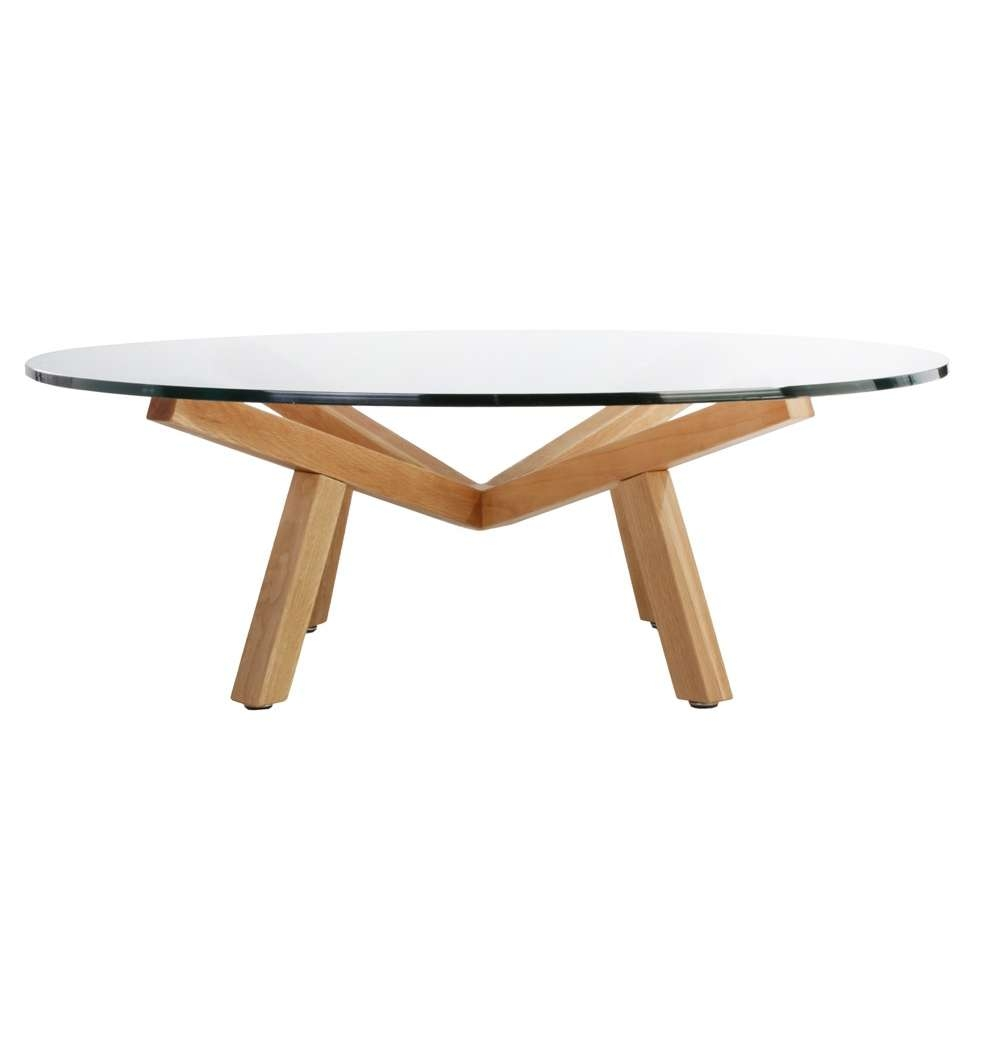 Coffee Table: Amazing Antique Round Oak Coffee Table Oak Storage Regarding Widely Used Glass And Oak Coffee Tables (View 6 of 20)