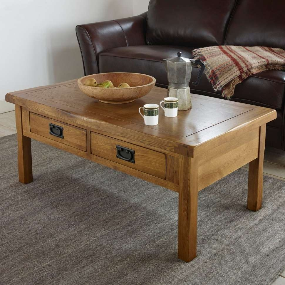 Coffee Table : Amazing Mission Coffee Table Distressed Coffee With Regard To Well Known Large Oak Coffee Tables (View 14 of 20)