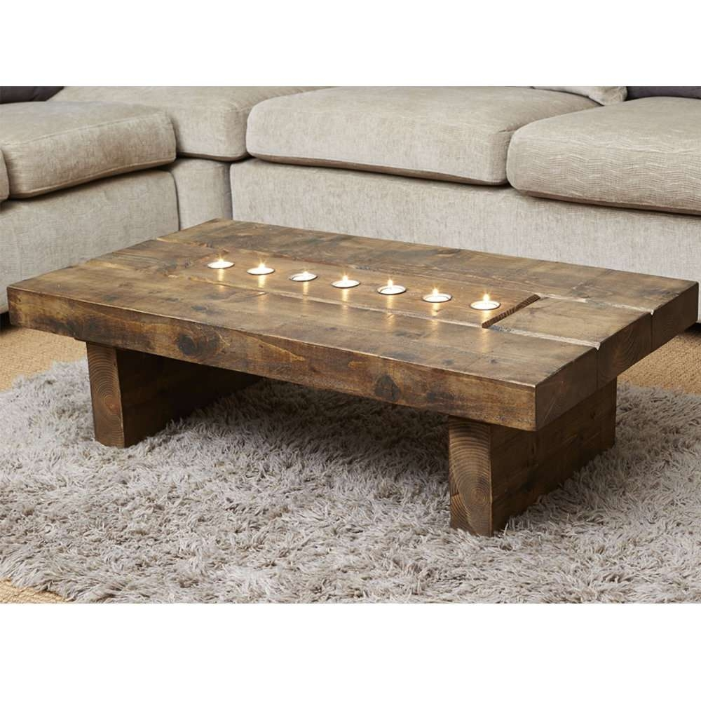 Coffee Table: Amazing Reclaimed Wood Square Coffee Table Reclaimed Throughout Widely Used Chunky Rustic Coffee Tables (View 4 of 20)