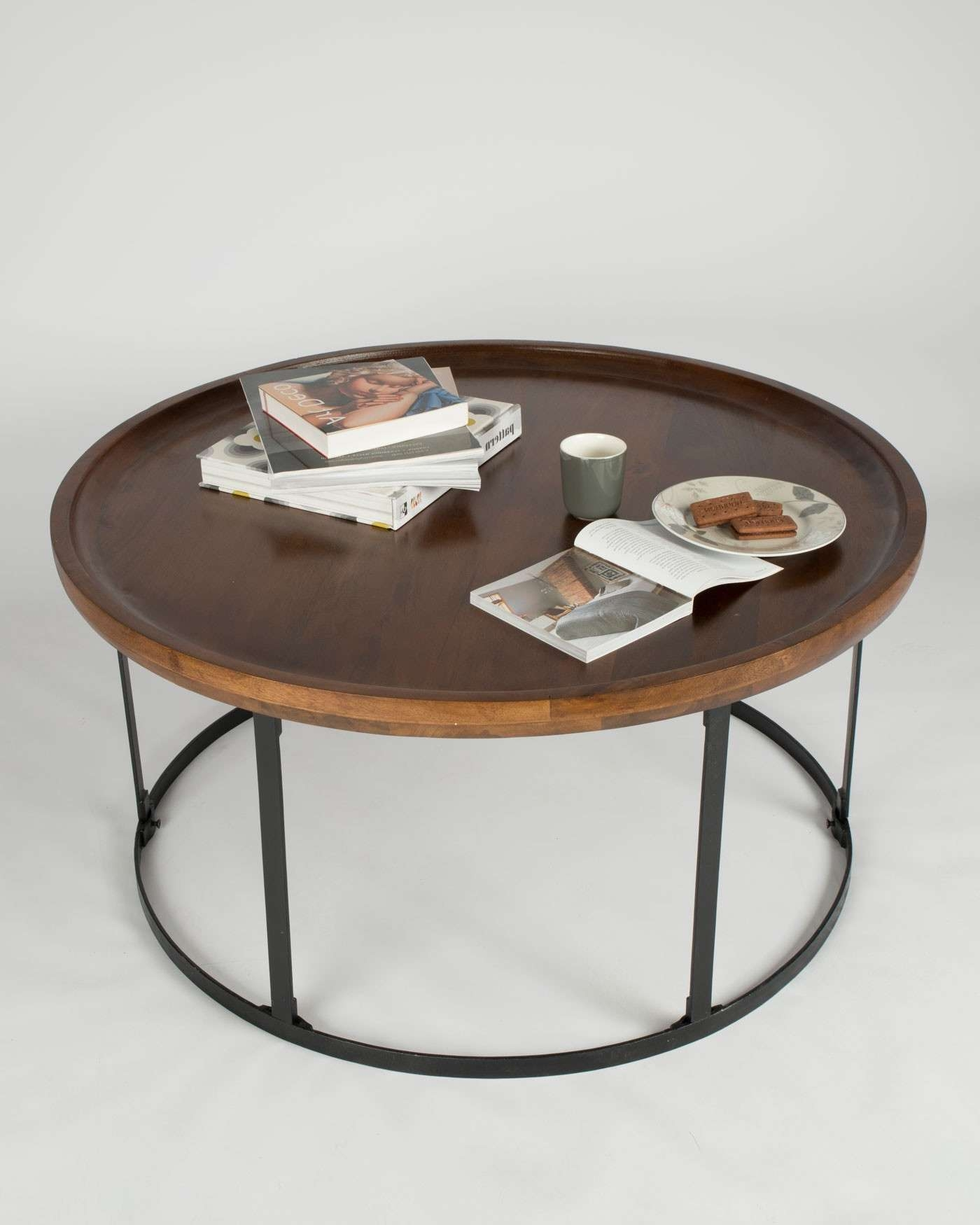 Coffee Table : Amazing Small Round Glass Coffee Table Retro Coffee For Trendy Square Dark Wood Coffee Table (View 4 of 20)