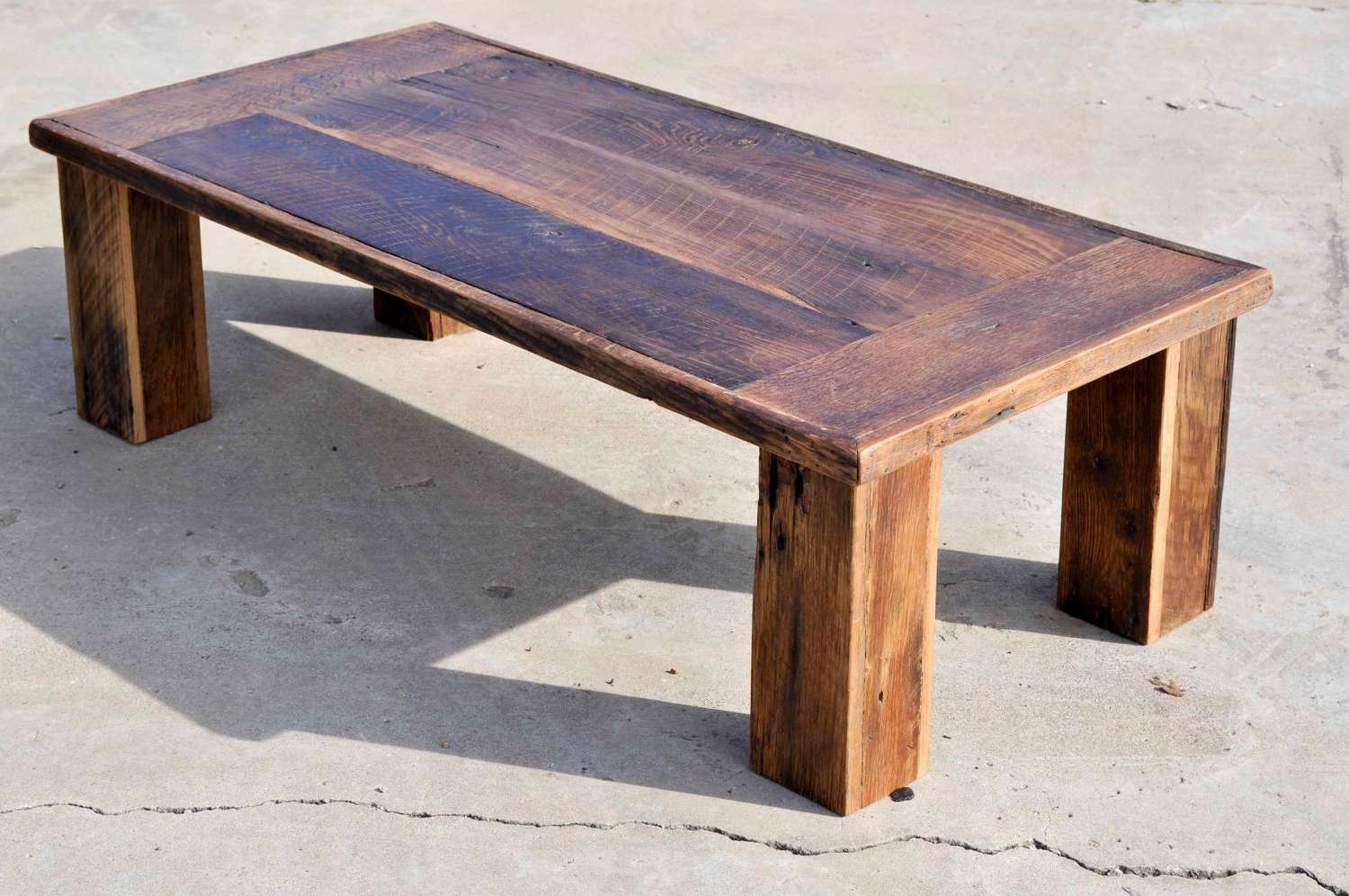 Coffee Table: Astonishing Wood Coffee Table Wood Coffee Table Intended For Best And Newest Reclaimed Oak Coffee Tables (View 2 of 20)