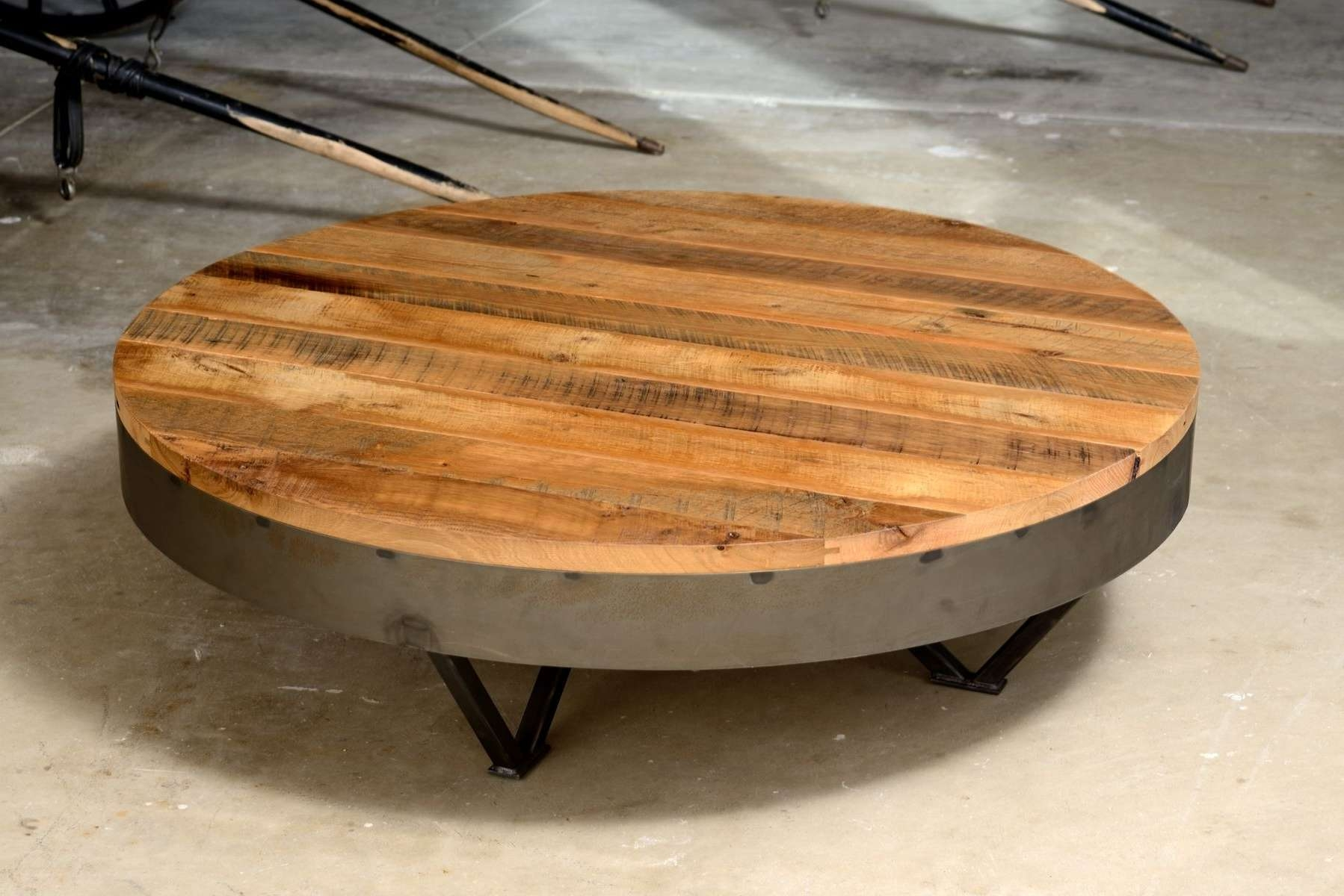 Coffee Table : Awesome Chest Coffee Table Grey Wood Coffee Table Intended For Preferred Oversized Round Coffee Tables (View 6 of 20)