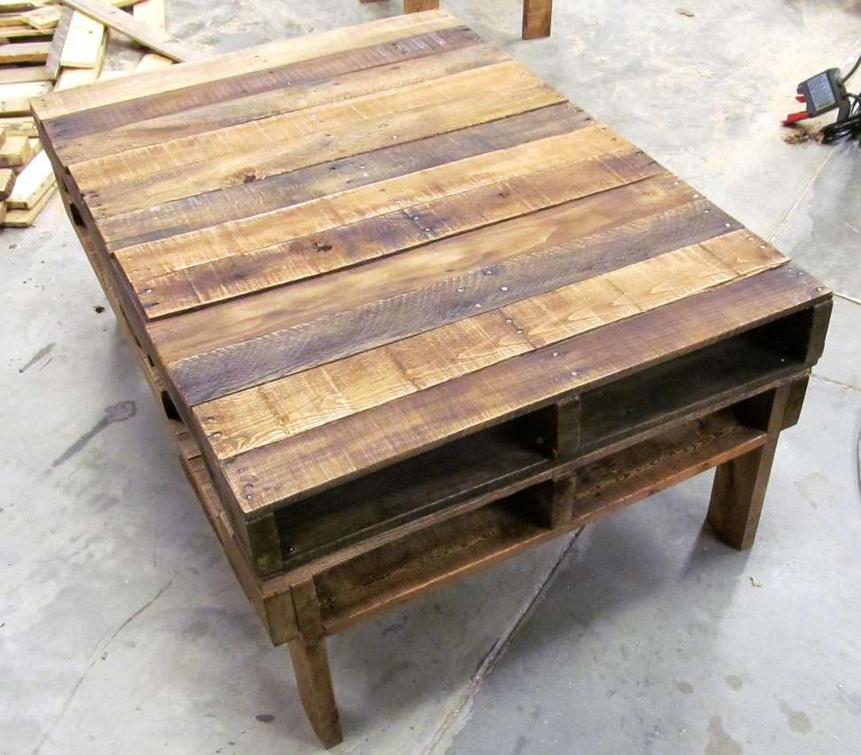 Coffee Table : Awesome Diy Rustic Coffee Table End Tables Made Out Intended For Famous Rustic Coffee Tables (View 4 of 20)