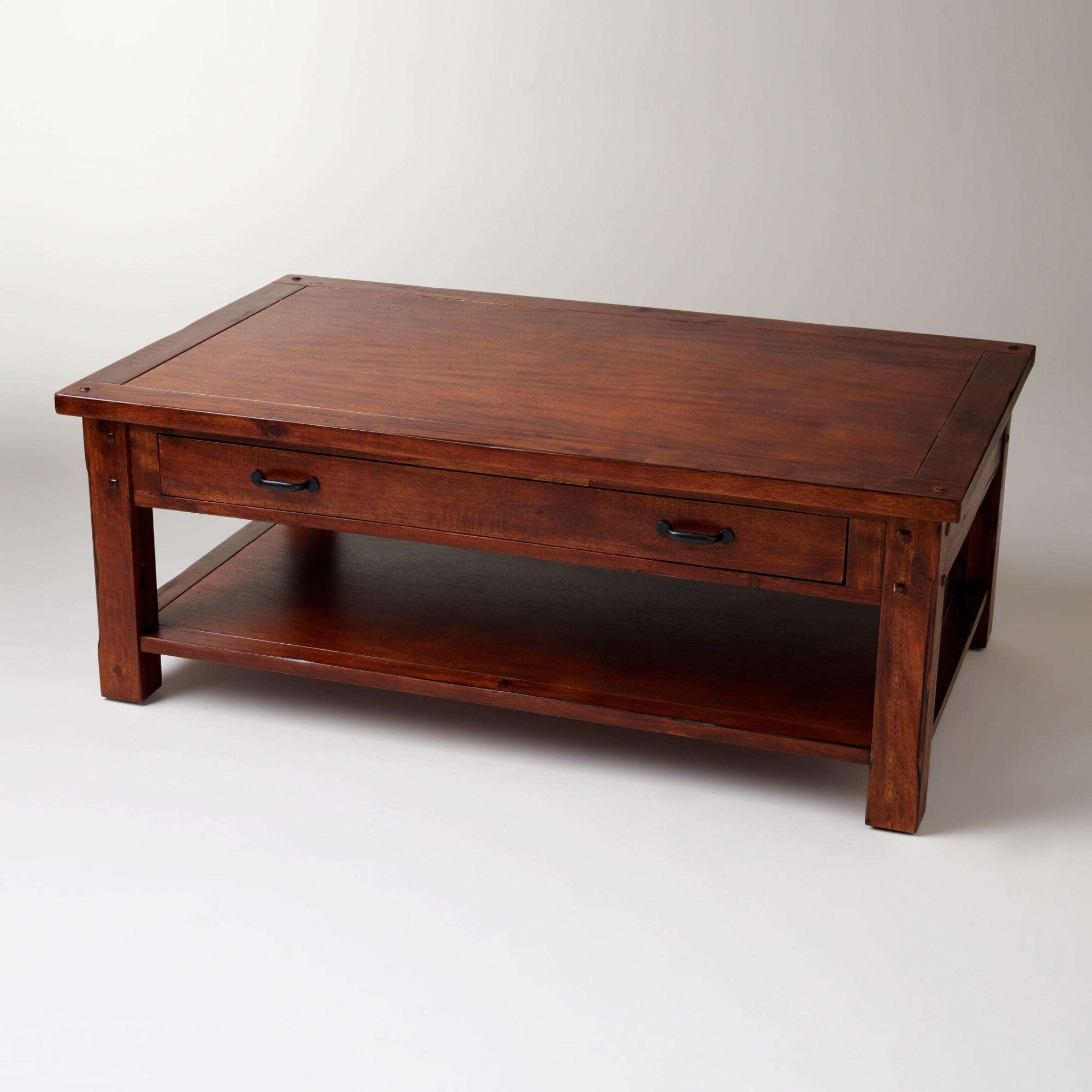 Coffee Table : Awesome Light Wood Coffee Table Rustic Wood Coffee Regarding Most Popular Dark Wooden Coffee Tables (View 10 of 20)