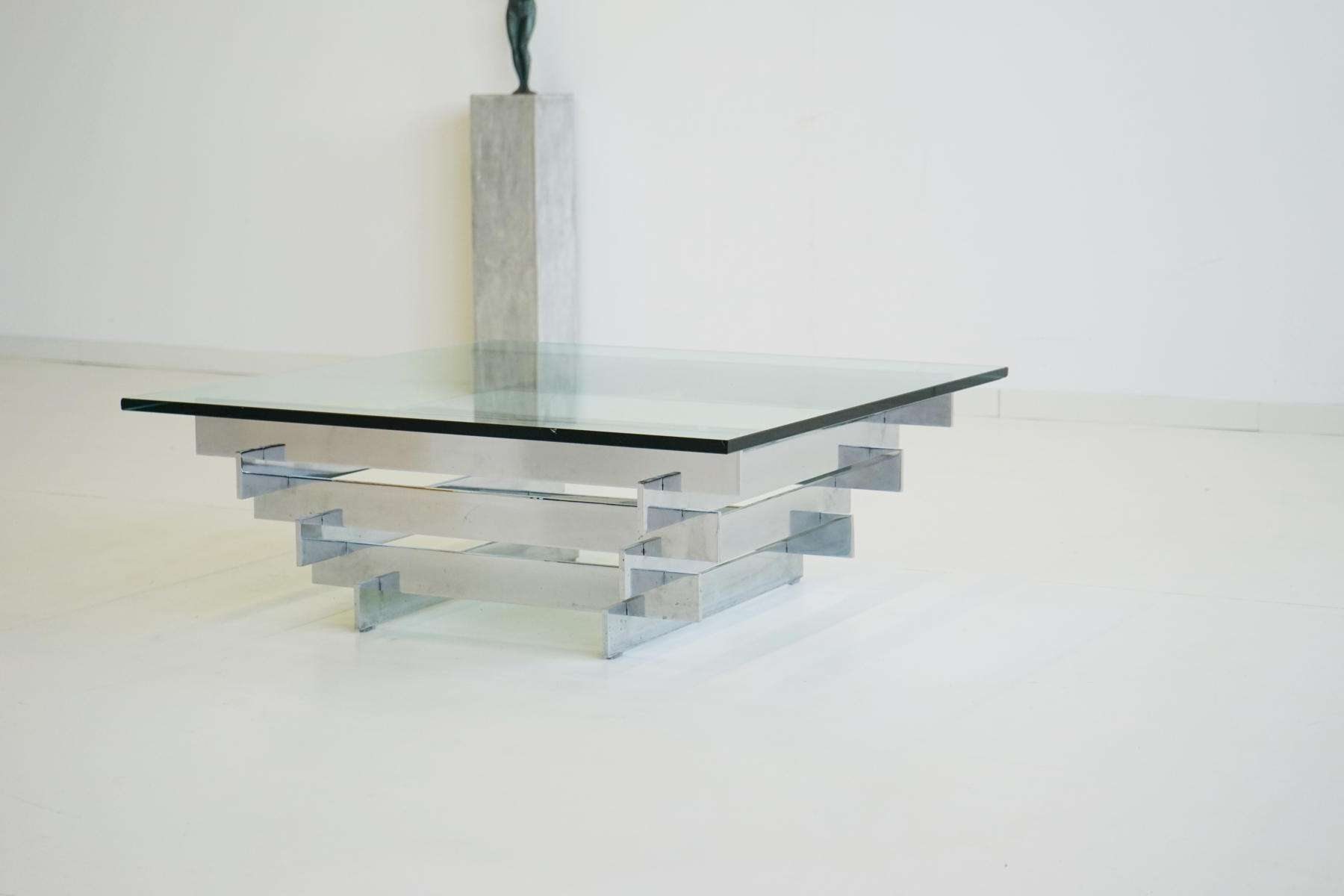 Coffee Table : Awesome Oval Glass Coffee Table Gold Glass Coffee With Recent Glass Chrome Coffee Tables (View 13 of 20)