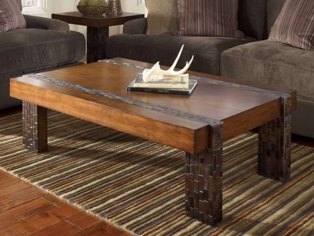 Coffee Table : Awesome Rustic Square Coffee Table Images Design Pertaining To Most Recently Released Extra Large Rustic Coffee Tables (View 1 of 20)