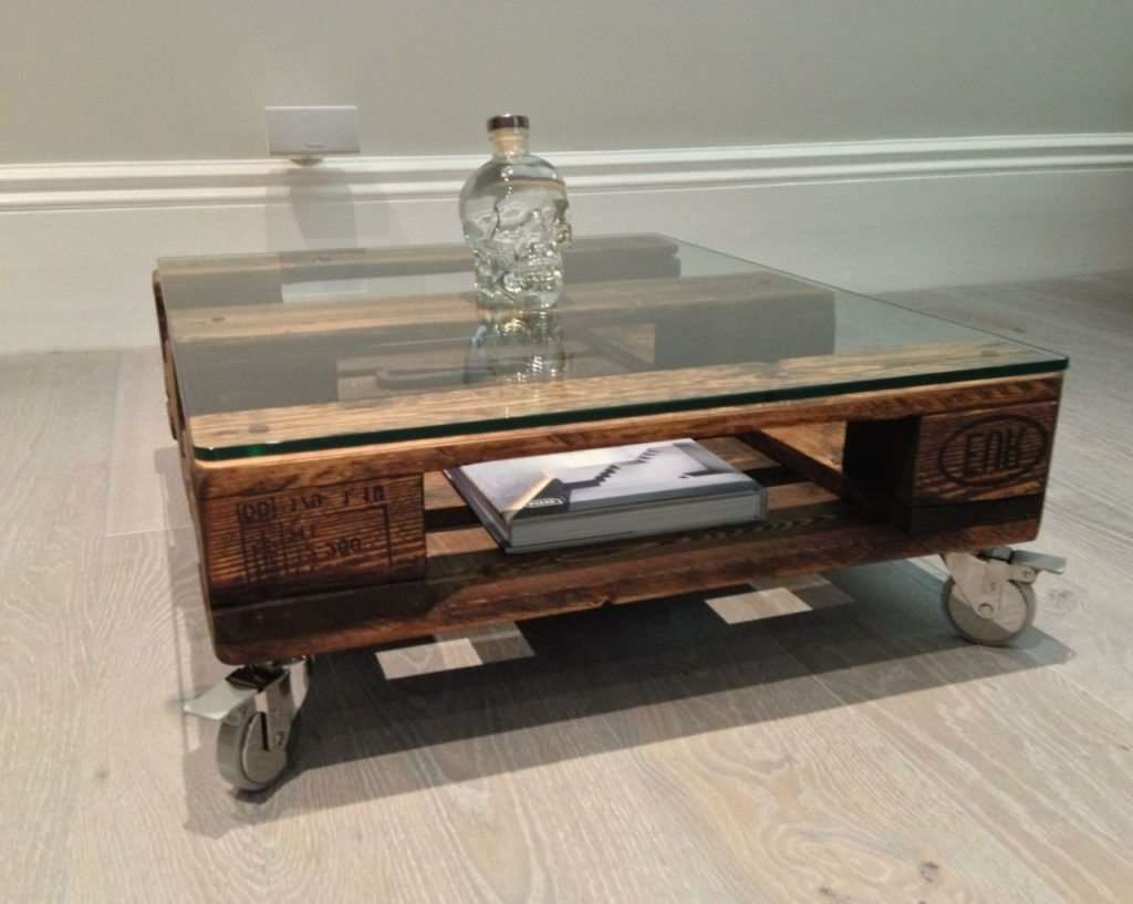 Coffee Table Best Glass Rustic Tables With Wheels Is Also A Regarding Well Liked Wheels Coffee Tables (View 6 of 20)