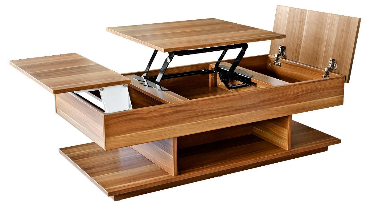 Coffee Table : Brilliant Wood Coffee Table With Storage Fresh Within Favorite Coffee Tables With Lift Up Top (View 5 of 20)