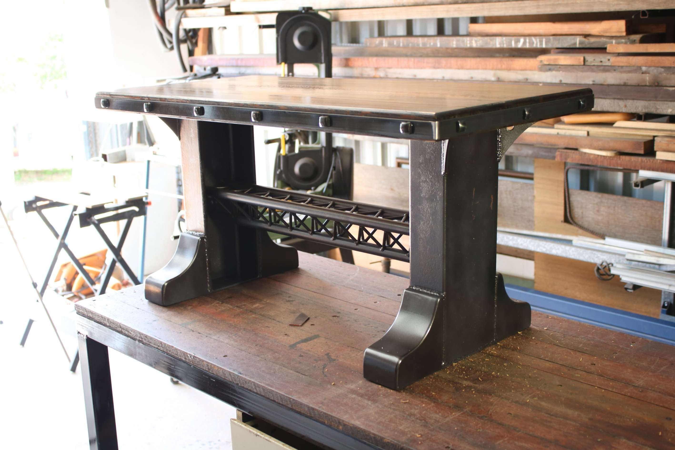 Coffee Table Build Industrial Style – Youtube In Current Coffee Table Industrial Style (View 7 of 20)