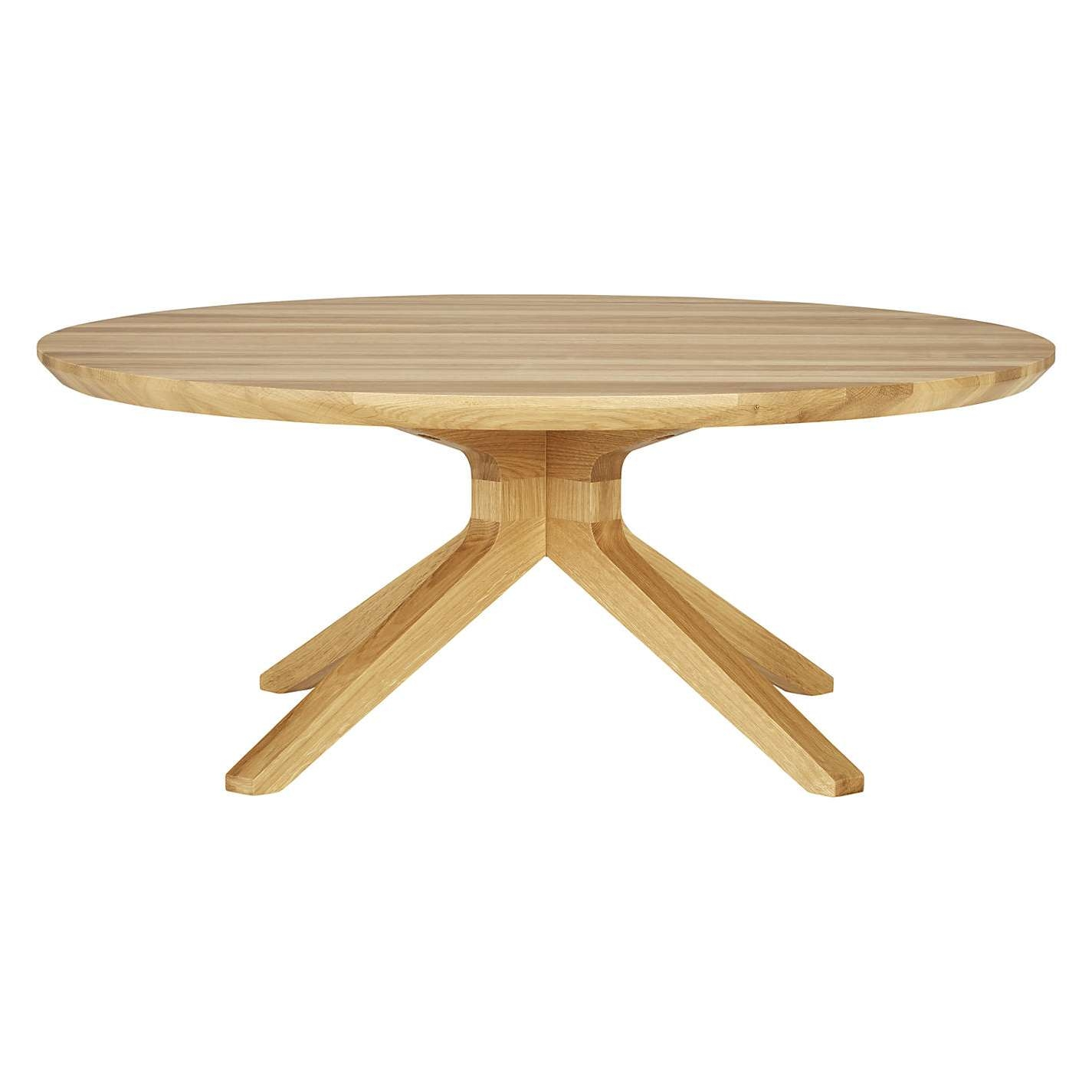 Coffee Table, Buy Matthew Hilton For Case Cross Round Coffee Table In Well Known Round Oak Coffee Tables (View 4 of 20)