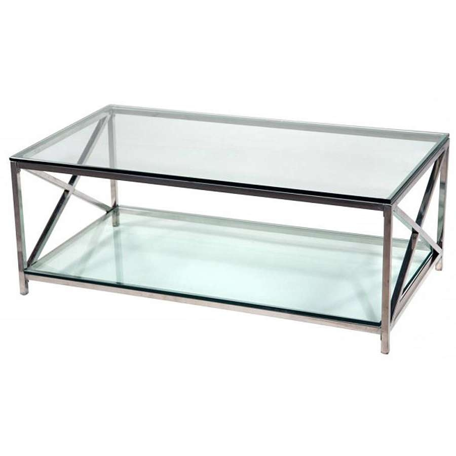 Coffee Table, Chrome Coffee Table Marble And Chrome Coffee Tables With Regard To Most Popular Glass Chrome Coffee Tables (View 7 of 20)