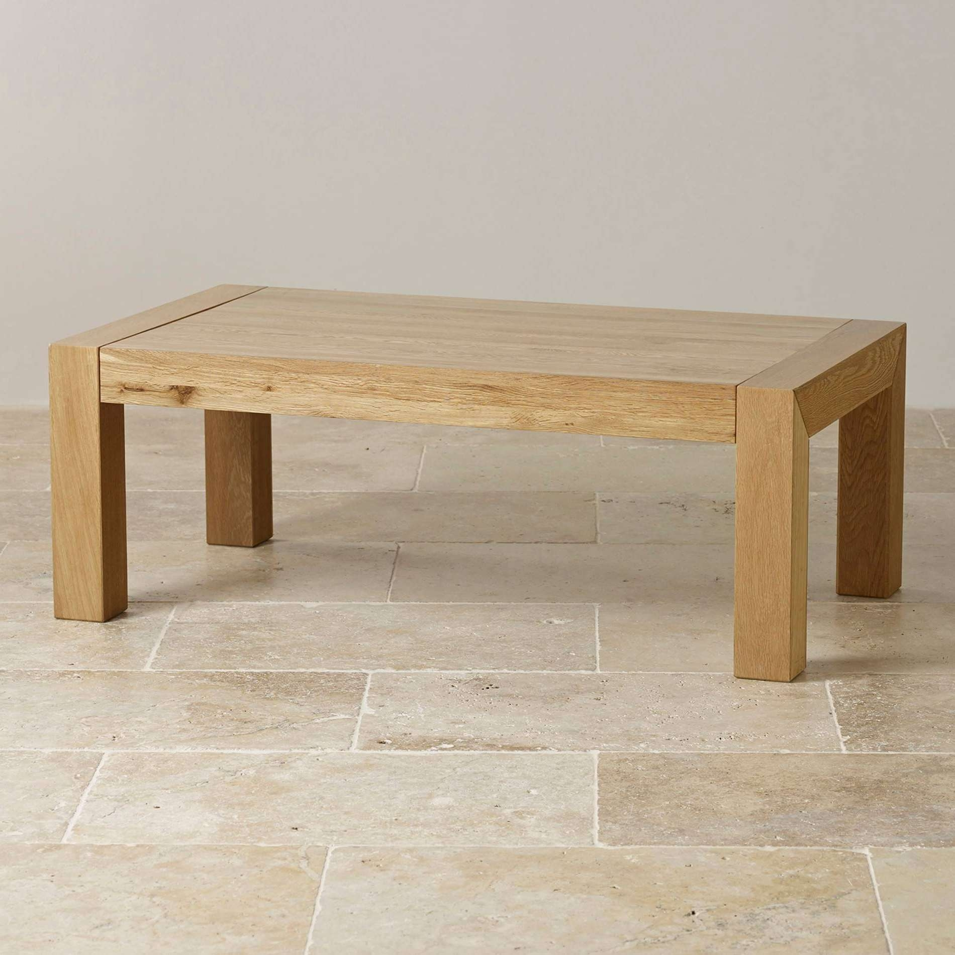 Coffee Table Classic Natural Solid Oak Coffee Table Furniture Land Regarding 2017 Oak Coffee Table Sets (View 3 of 20)