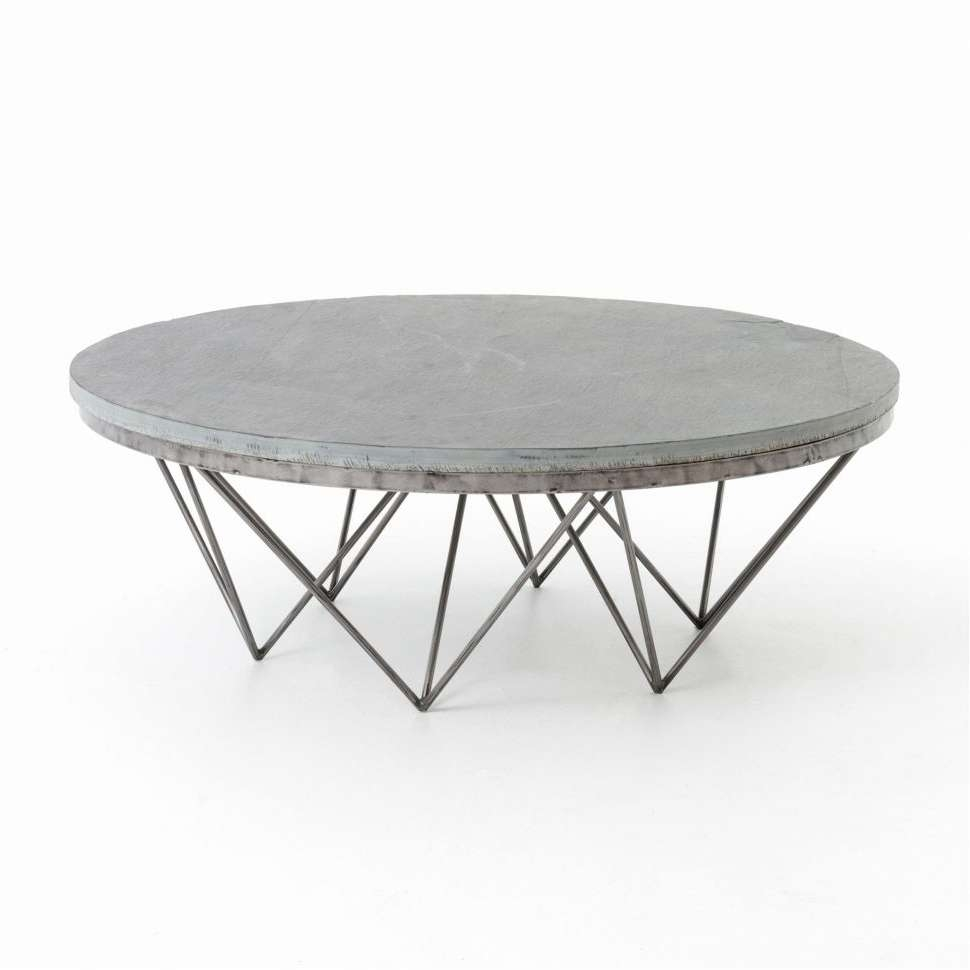 Coffee Table : Coffee Table Black And Chrome Coffee Table Round Intended For Widely Used Round Chrome Coffee Tables (Gallery 19 of 20)