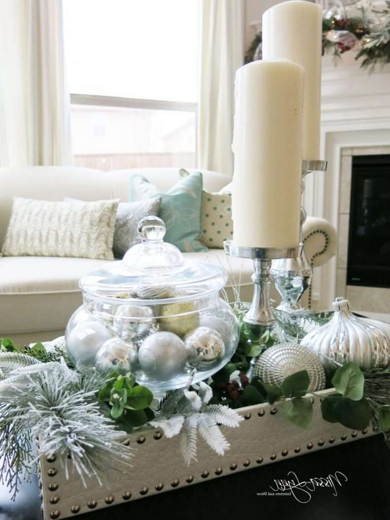 Coffee Table : Coffee Table Decordeas Decorating For Christmas Top Regarding Fashionable Rustic Christmas Coffee Table Decors (View 18 of 20)