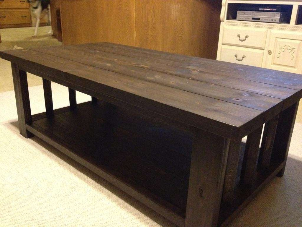 Coffee Table : Coffee Table Rustic Large Plank Top Living Room Inside 2017 Rustic Wood Diy Coffee Tables (View 4 of 20)