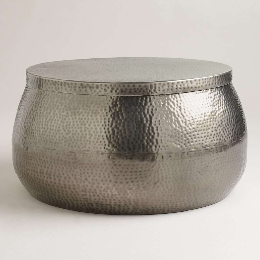 Coffee Table : Coffee Table Silverl Round Hammered Tablesilver With Regard To Most Recently Released Hammered Silver Coffee Tables (View 14 of 20)