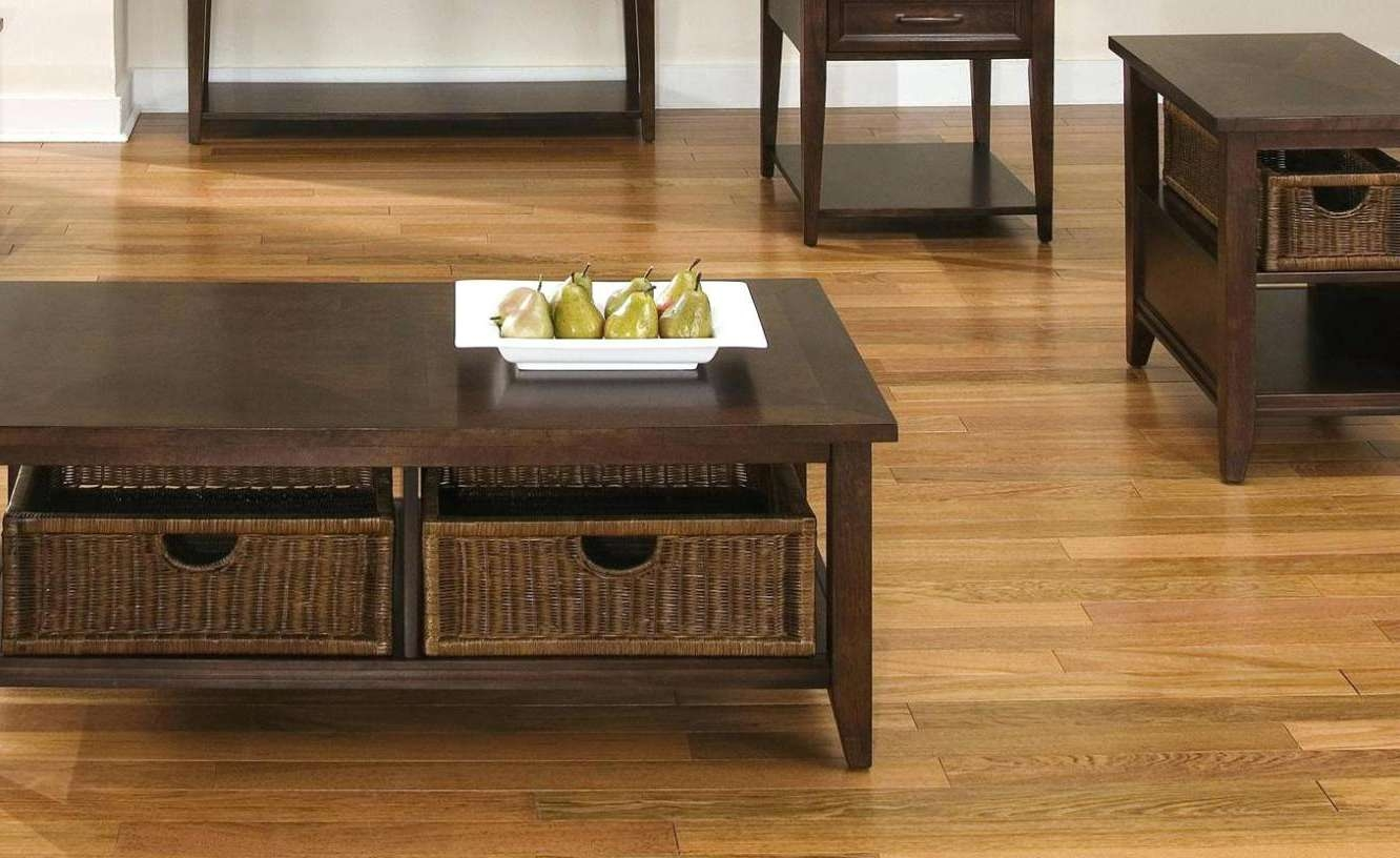 Coffee Table : Coffee Table With Storage Baskets Popular Round Throughout Fashionable Coffee Table With Wicker Basket Storage (View 2 of 20)