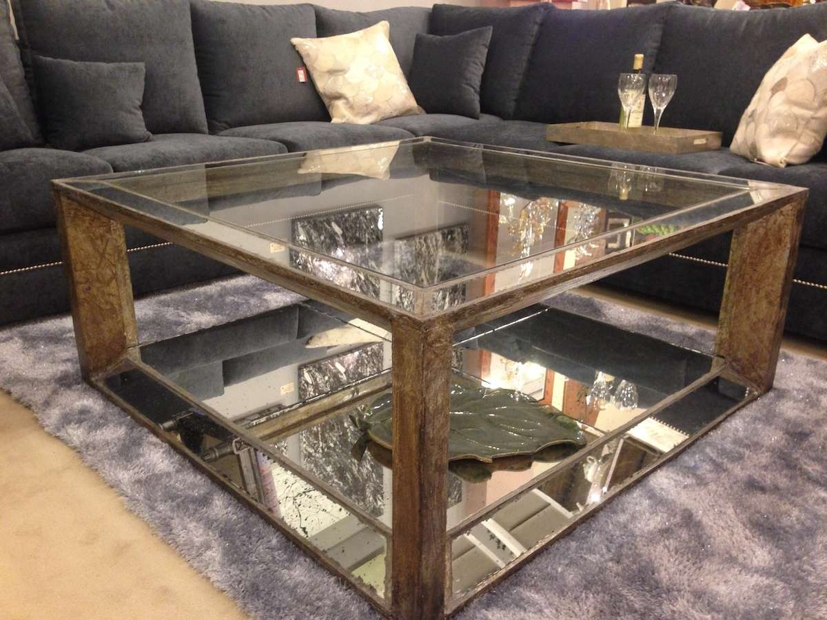 Coffee Table, Console Table And Mirror Set Mirror Tables Mirror Inside Widely Used Mirror Glass Coffee Table (View 2 of 20)