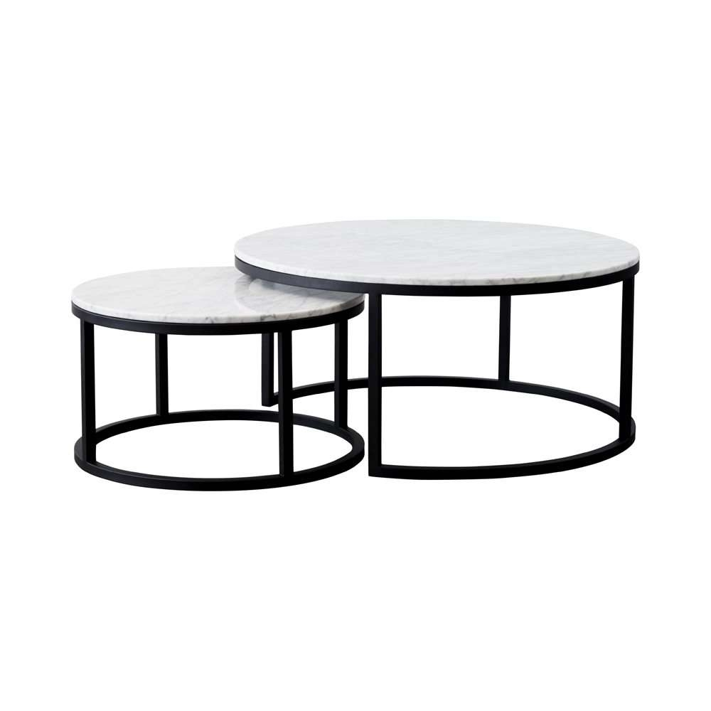 Coffee Table Contemporary Nest Of Tables Stacking Tables Black Intended For Widely Used Stackable Coffee Tables (View 4 of 20)