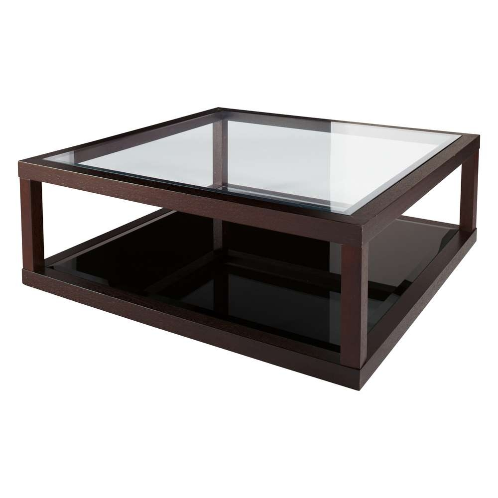 Coffee Table, Dark Oak Frame Glass Coffee Table (View 4 of 20)