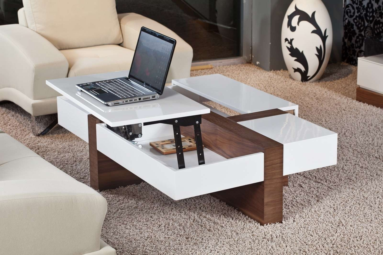 Coffee Table : Distressed Coffee Table Tags Attractive Cool Tables Inside Well Known Modern Coffee Table (View 6 of 20)