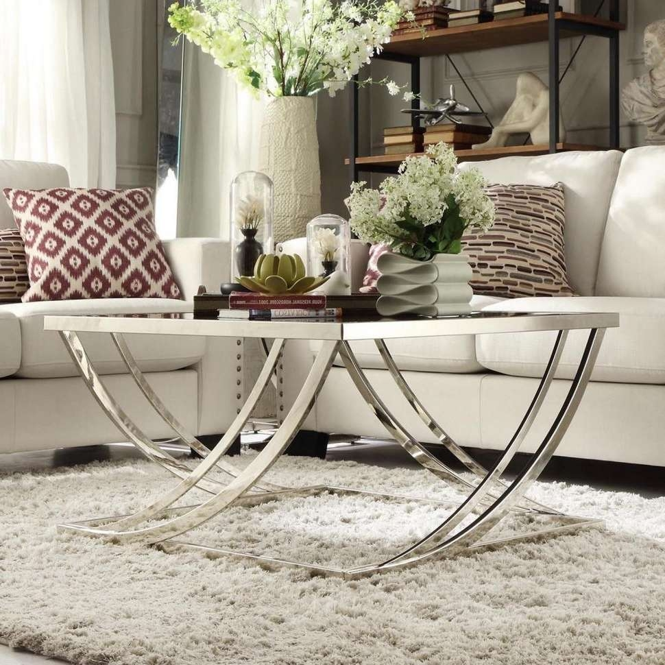 Coffee Table : Edc050117 164 Glass Coffee Table In Living Room Pertaining To Best And Newest Large Glass Coffee Tables (View 15 of 20)