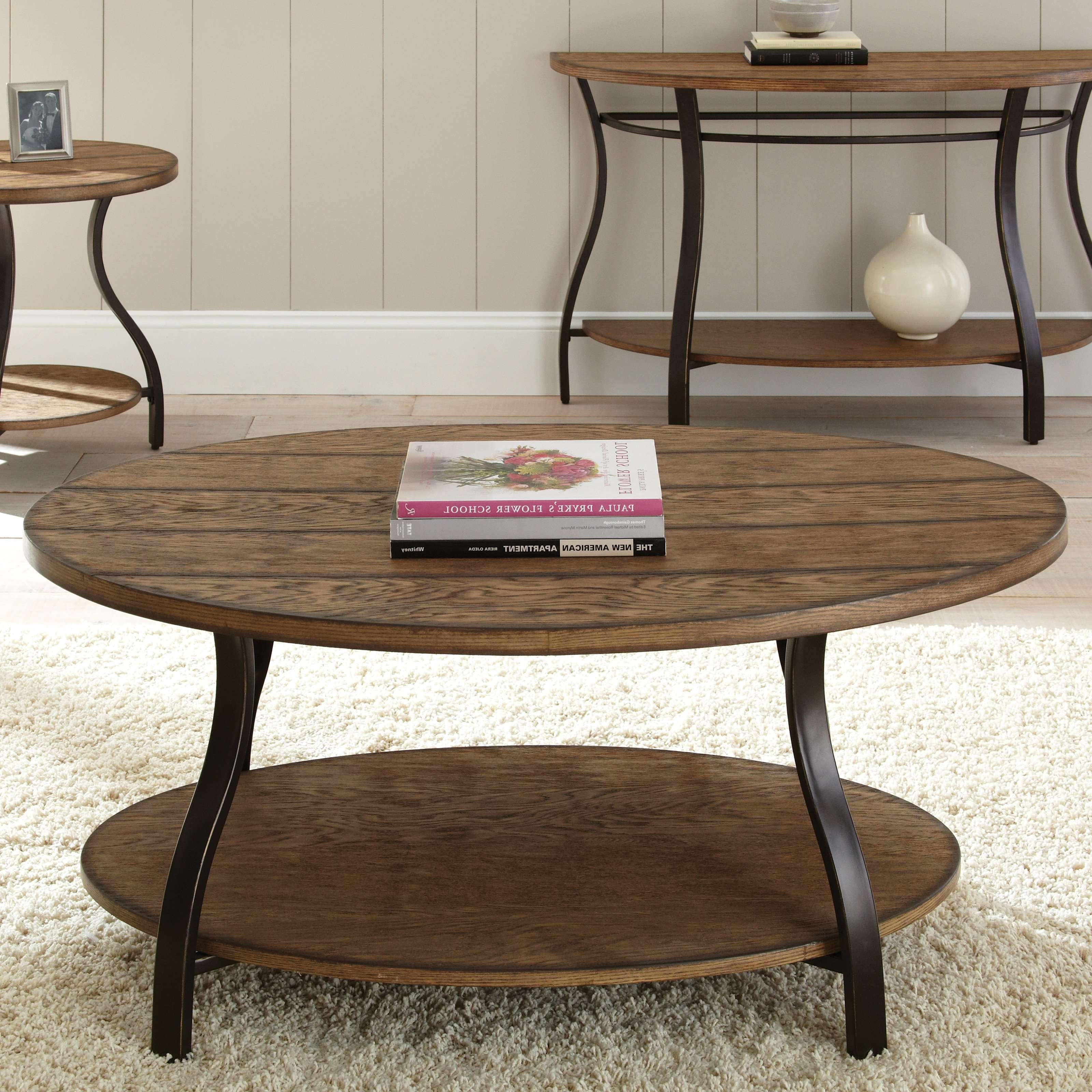 Coffee Table : Fabulous Rustic Round Coffee Table Large Round Pertaining To Most Current Oval Wood Coffee Tables (View 3 of 20)