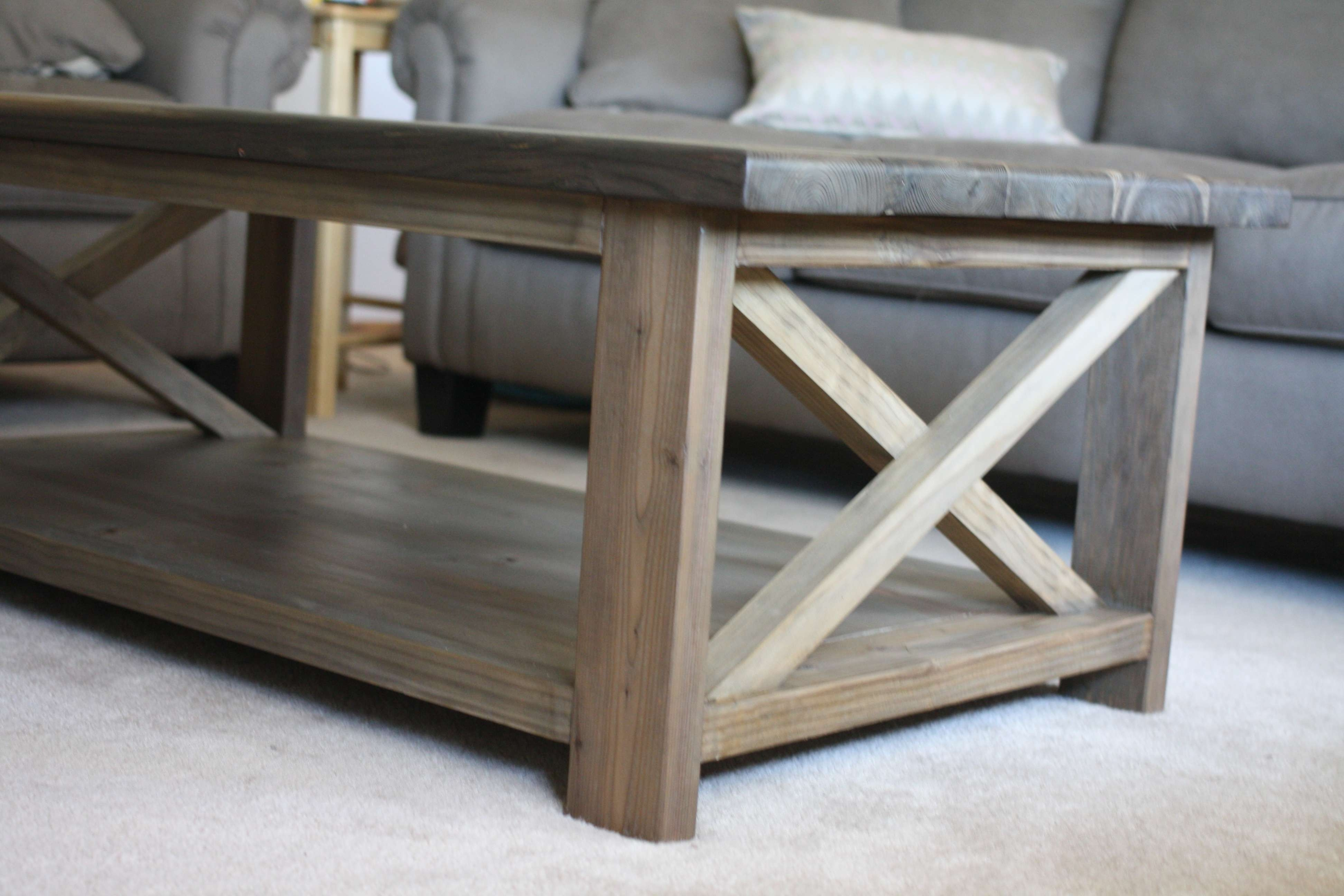 Coffee Table : Fabulous Rustic X Side Table Farmhouse Table White Throughout Widely Used Large Low Rustic Coffee Tables (View 3 of 20)
