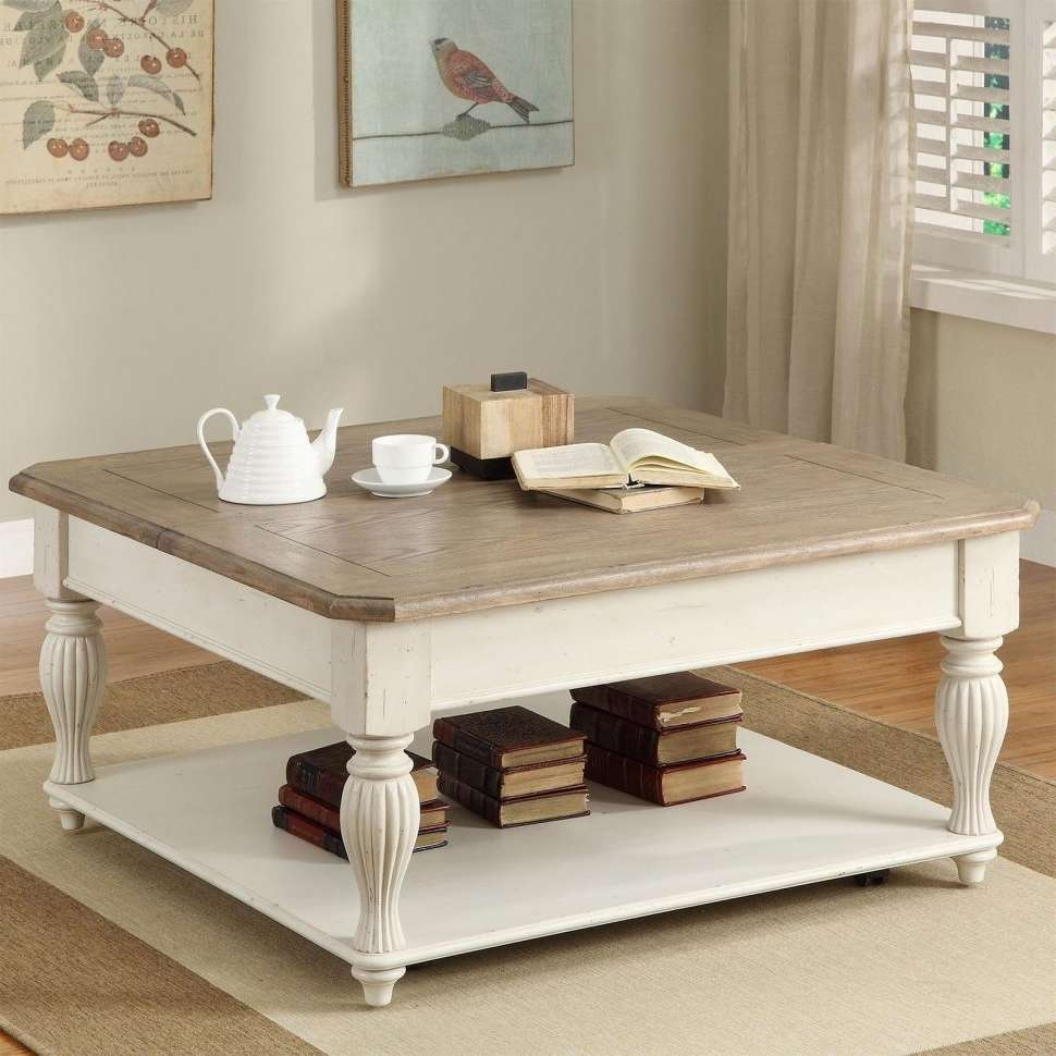 Coffee Table : Fearsome White Coffee Tables Picture Concept Table Throughout Widely Used White Coffee Tables With Baskets (View 5 of 20)