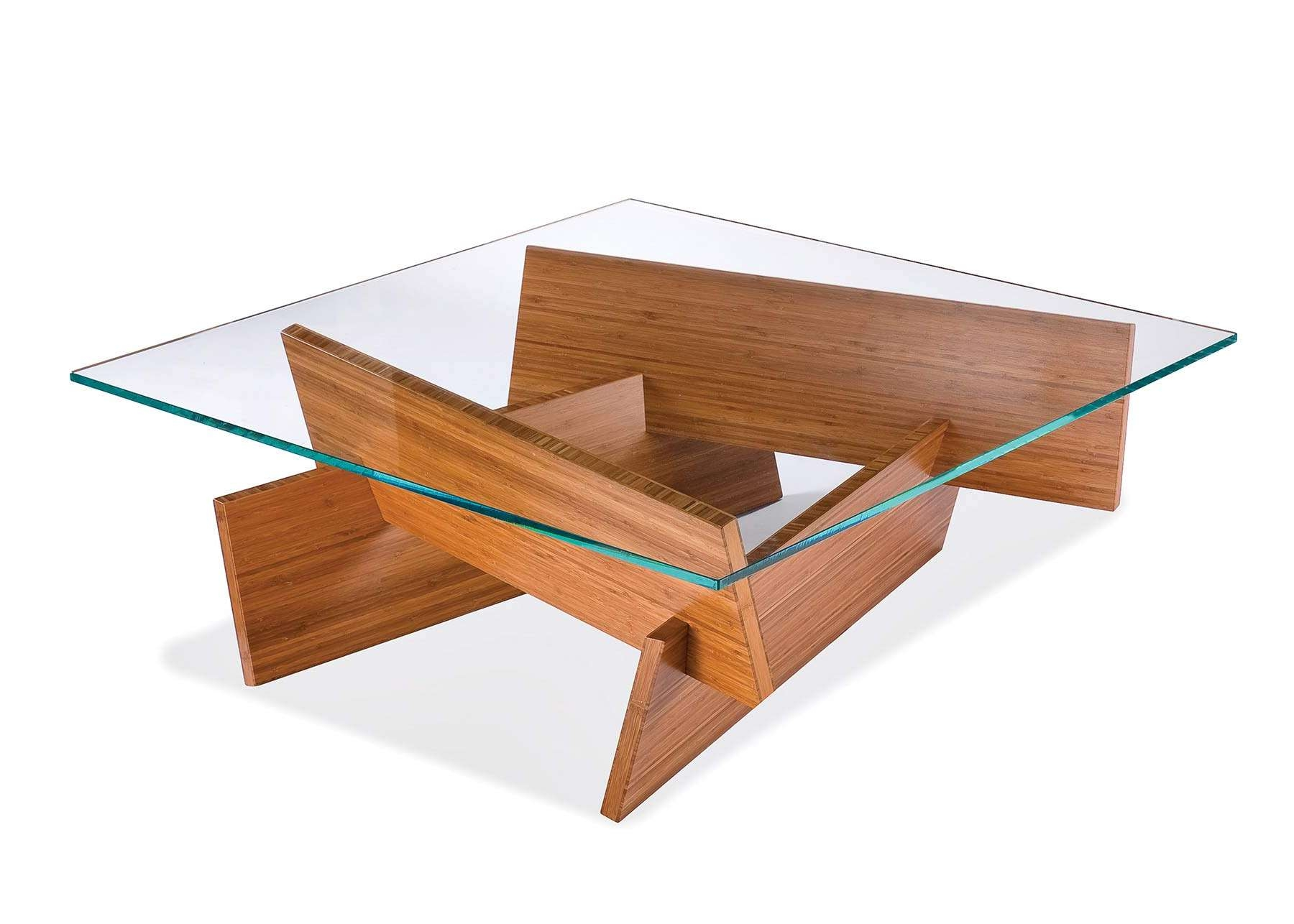 Coffee Table Glass Wood Coffee Table Modern Nexo Top In Light Oak Pertaining To Newest White Wood And Glass Coffee Tables (View 19 of 20)