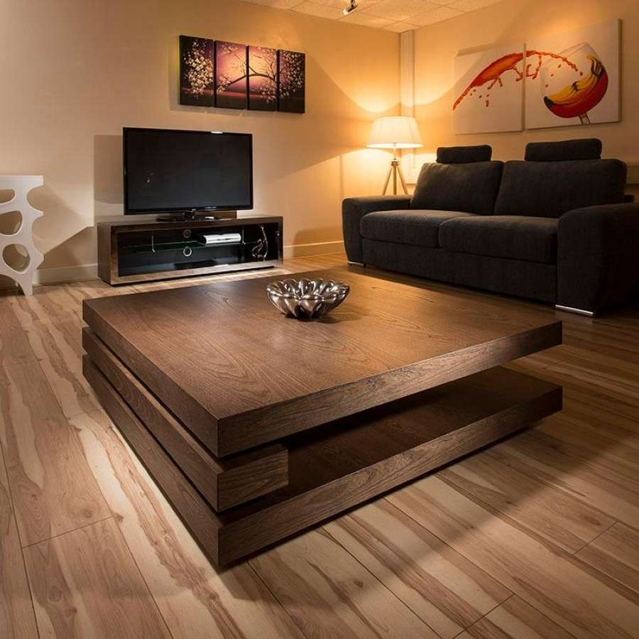 """Coffee Table: Good Large Square Coffee Tables 48"""" Square Coffee With Recent Large Square Wood Coffee Tables (View 15 of 20)"""