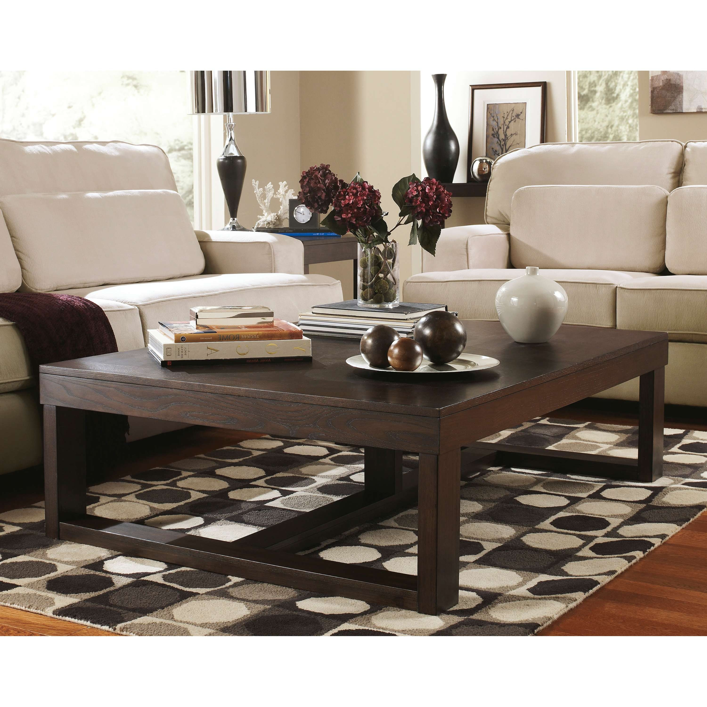 Coffee Table : How Big Is Coffee Table Ottoman Lotshow Standard Pertaining To Popular Big Coffee Tables (View 7 of 20)