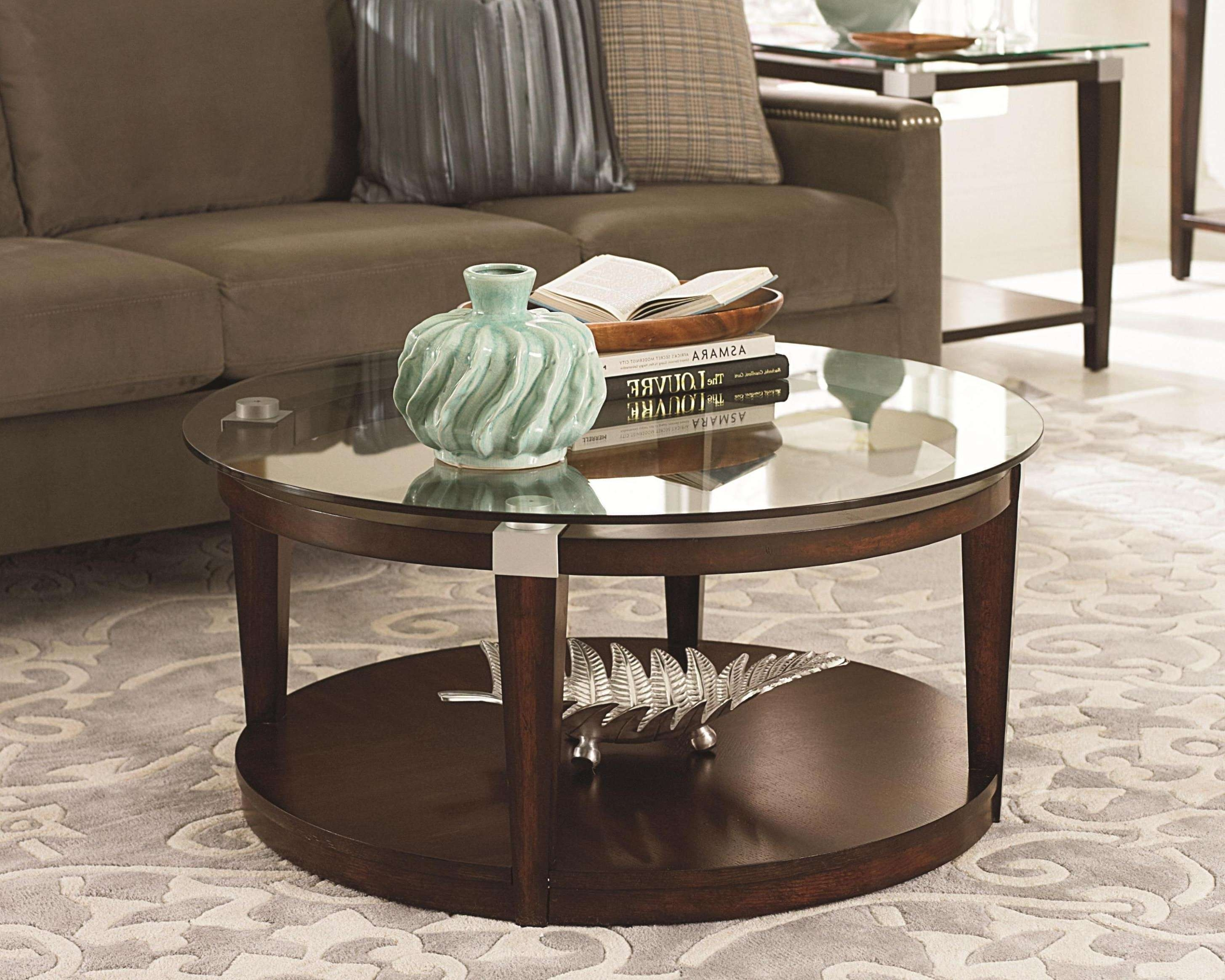 Coffee Table Interesting Round Glass Coffee Table Design Ideas Pertaining To Most Up To Date Circular Glass Coffee Tables (View 5 of 20)