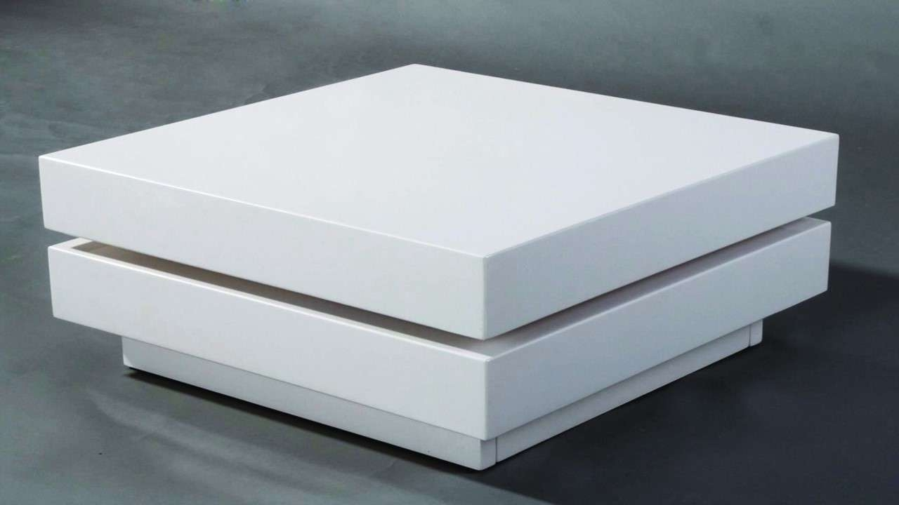 Coffee Table: Interesting Square Coffee Table White Decorating Throughout Most Up To Date Coffee Tables White High Gloss (View 15 of 20)