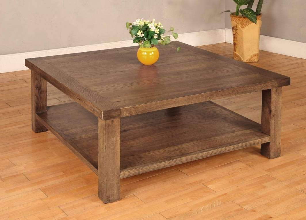 Coffee Table Large Square Coffee Table Tables With The Storage Inside Well Liked Rustic Square Coffee Table With Storage (View 5 of 20)